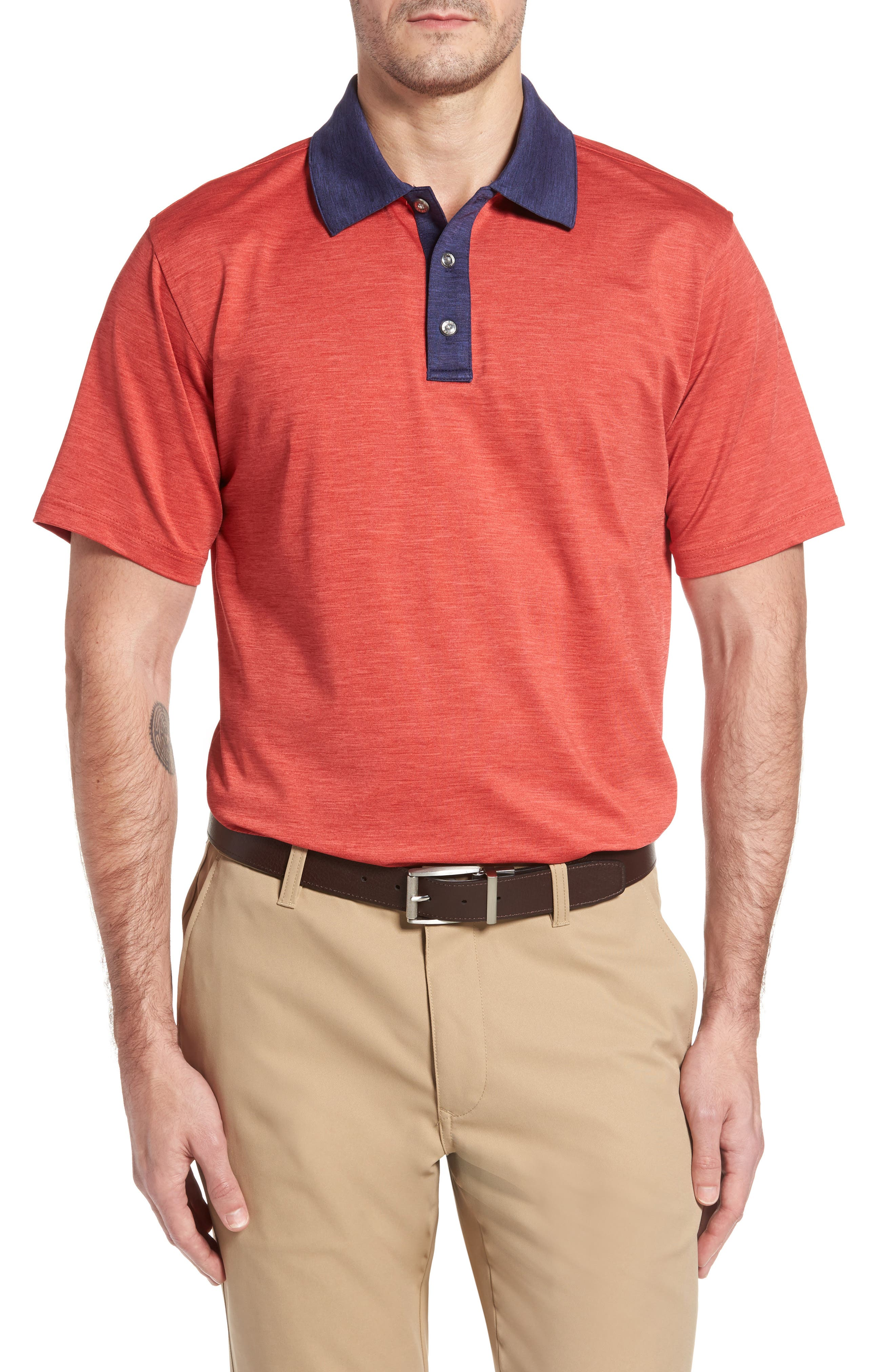 SWC Heathered Polo
