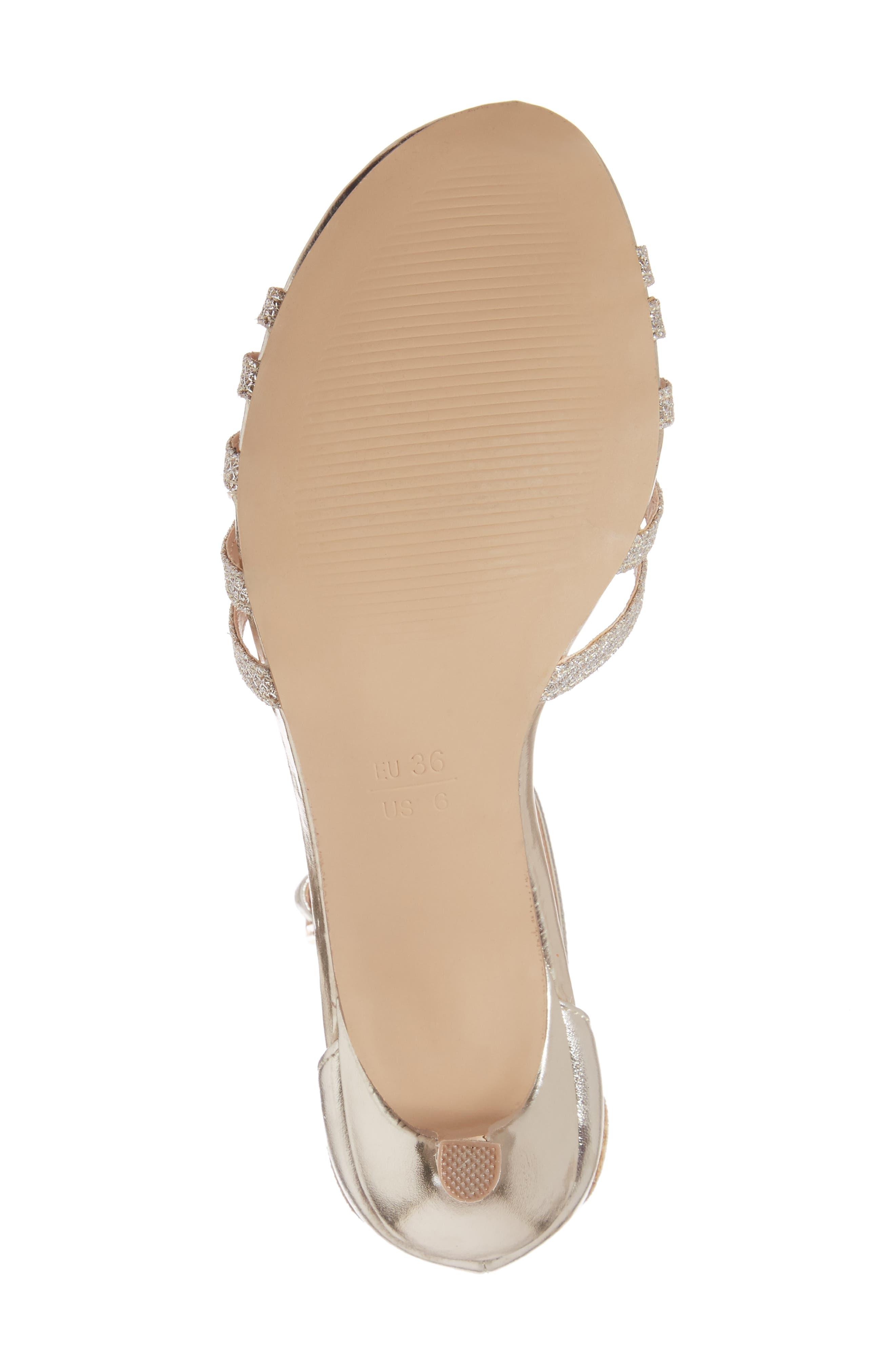 Melby Ankle Strap Sandal,                             Alternate thumbnail 6, color,                             Champagne