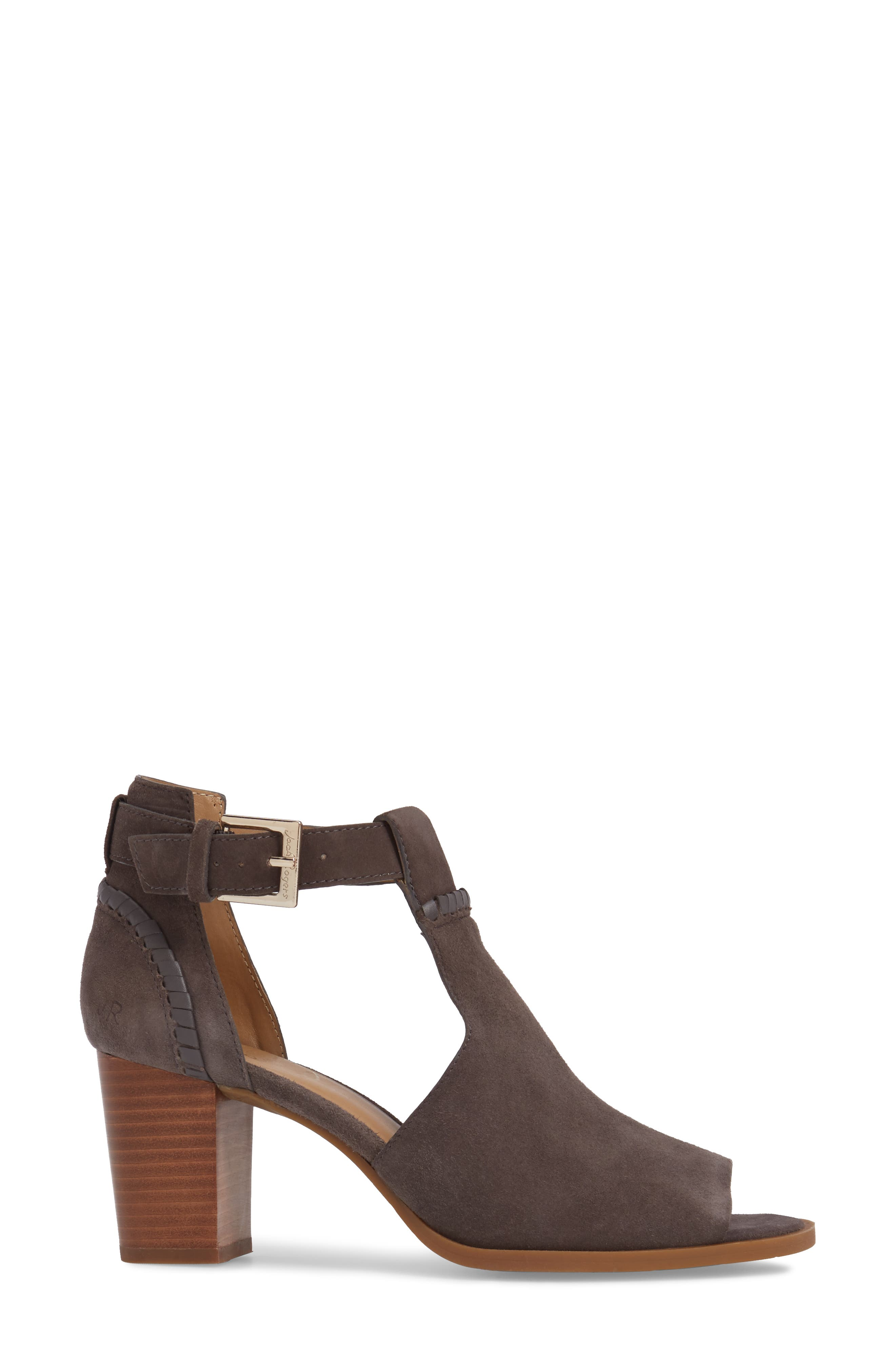 Cameron Block Heel Sandal,                             Alternate thumbnail 3, color,                             Charcoal Suede