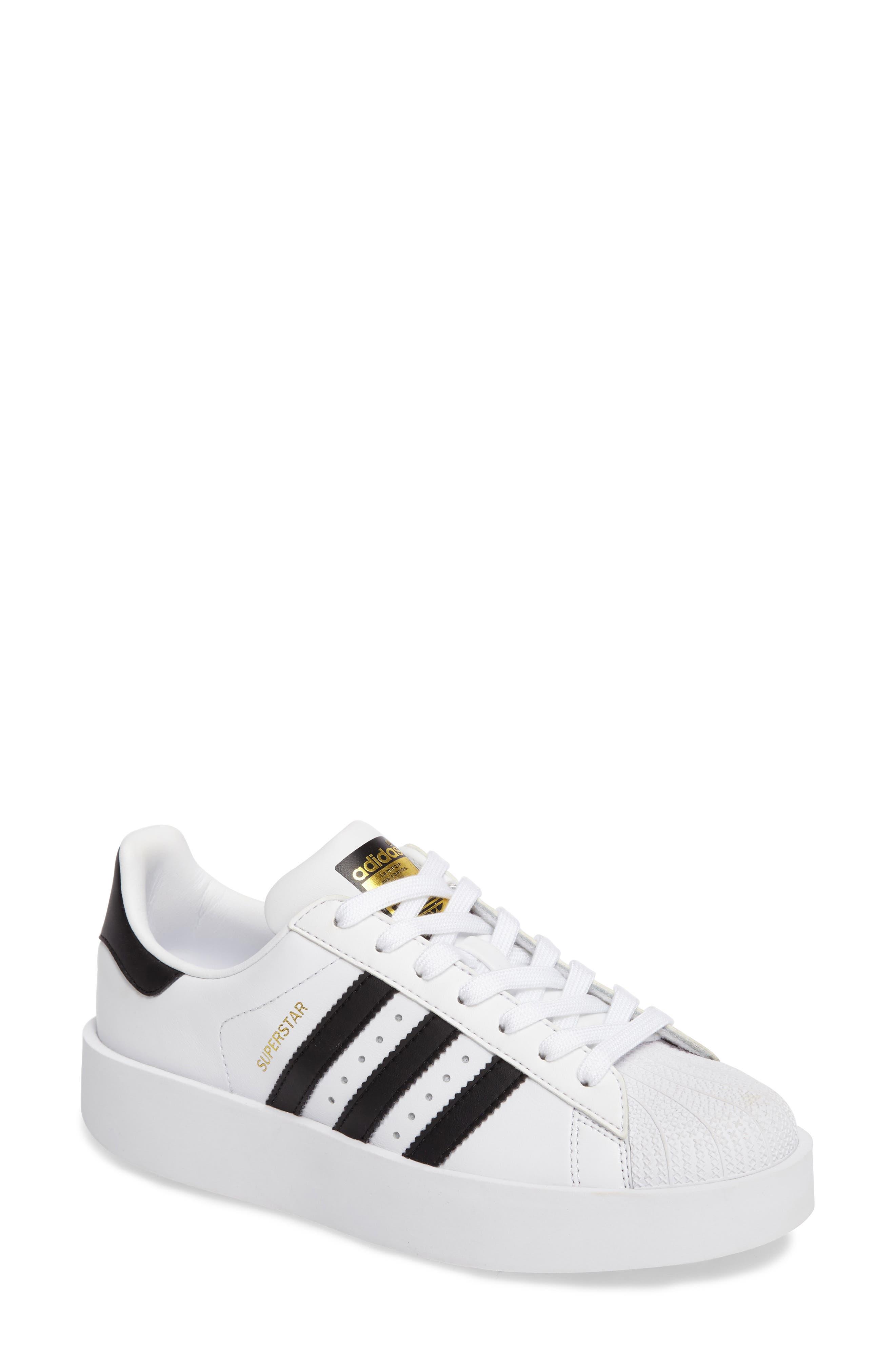 Superstar Bold Platform Sneaker,                         Main,                         color, White/ Core Black