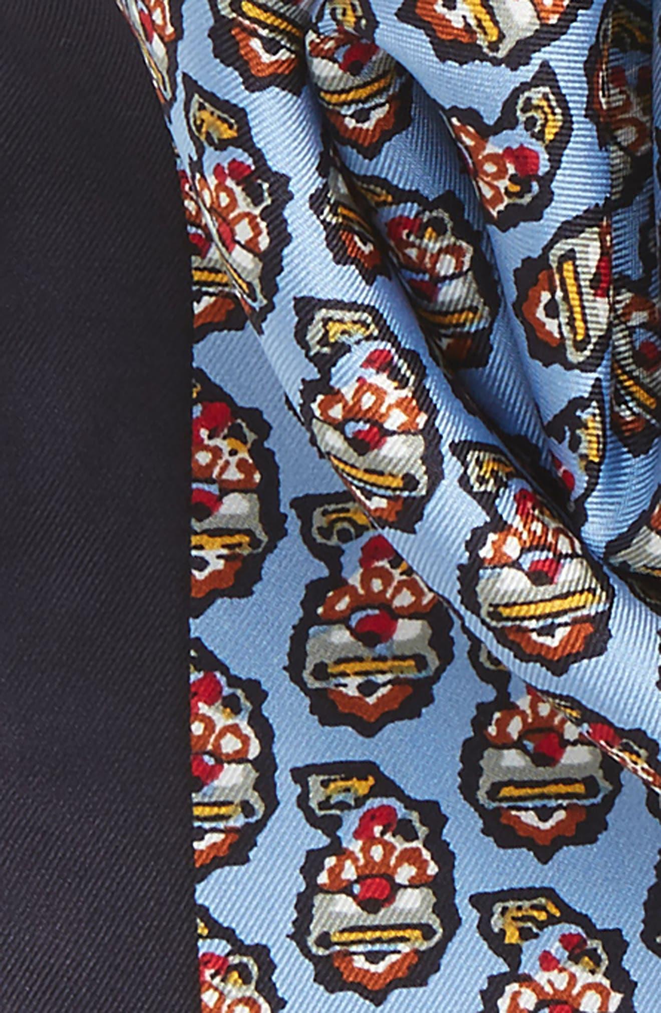 Paisley Silk Scarf,                             Alternate thumbnail 3, color,                             Himalaya Blue