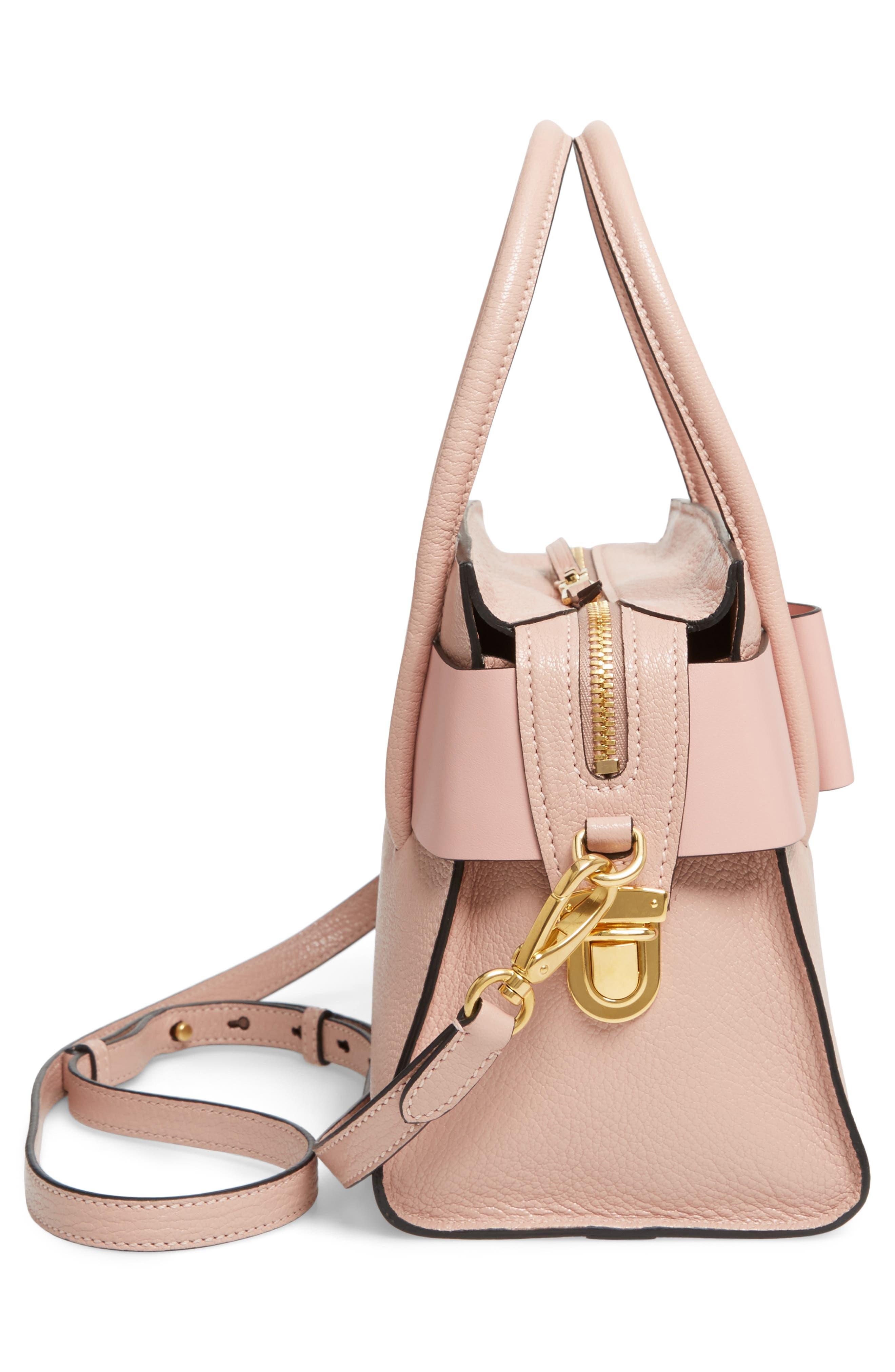 Madras Ficco Leather Satchel,                             Alternate thumbnail 5, color,                             Pink