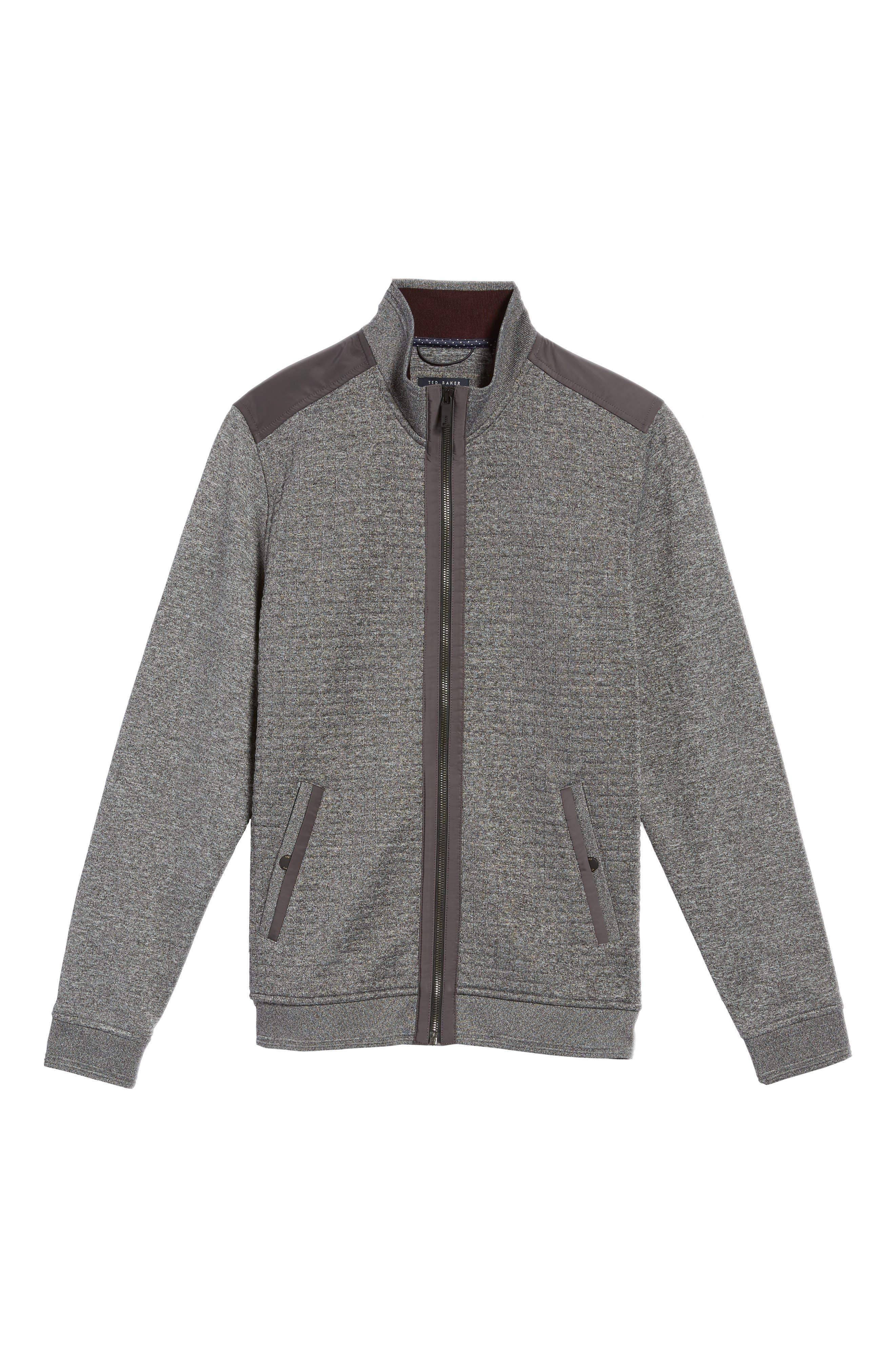 Whooty Full Zip Fleece Jacket,                             Alternate thumbnail 4, color,                             Charcoal