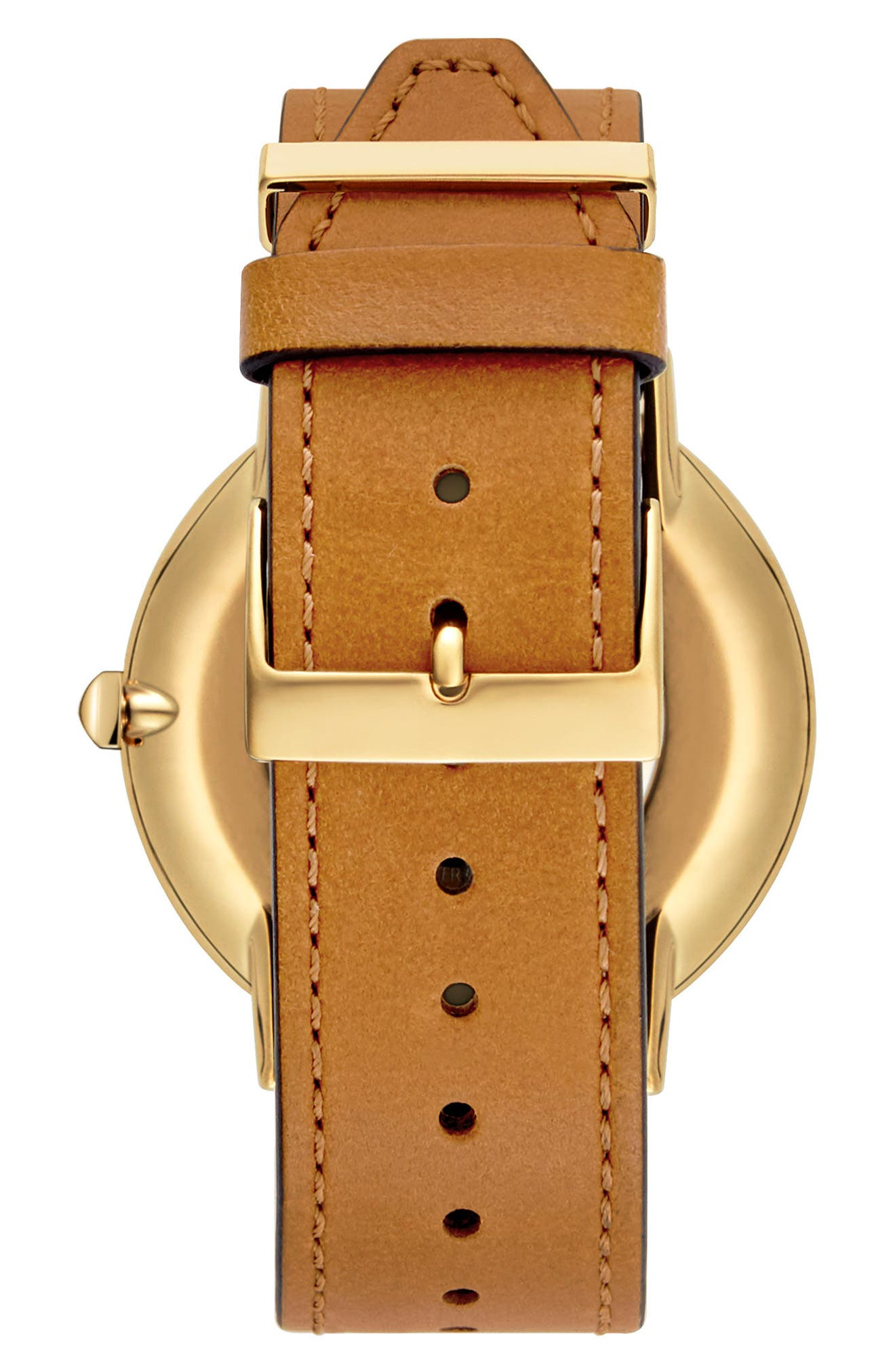 Alternate Image 2  - Rebecca Minkoff Major Leather Strap Watch, 40mm