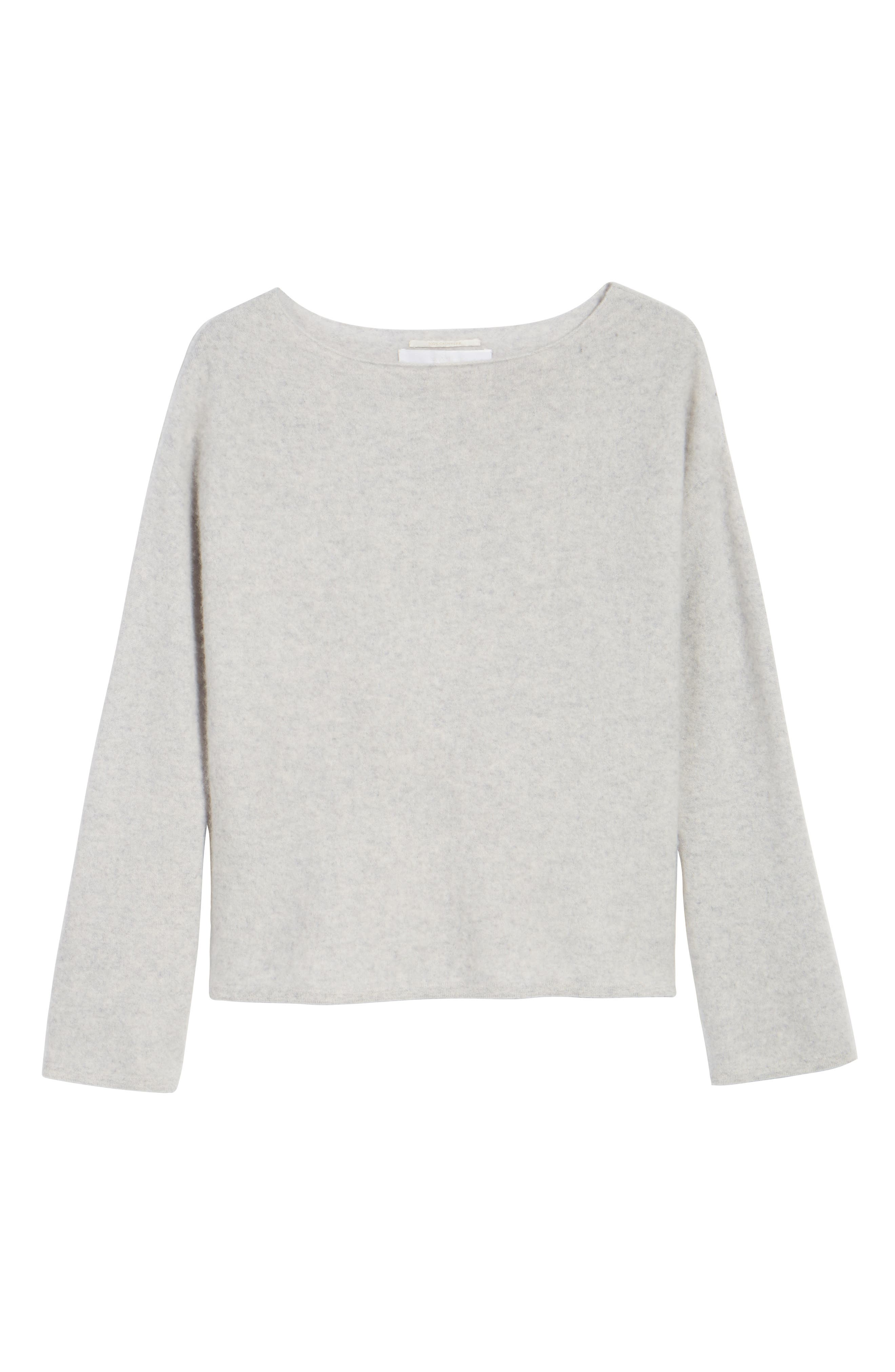 Boiled Cashmere Pullover,                             Alternate thumbnail 7, color,                             Grey Clay Heather