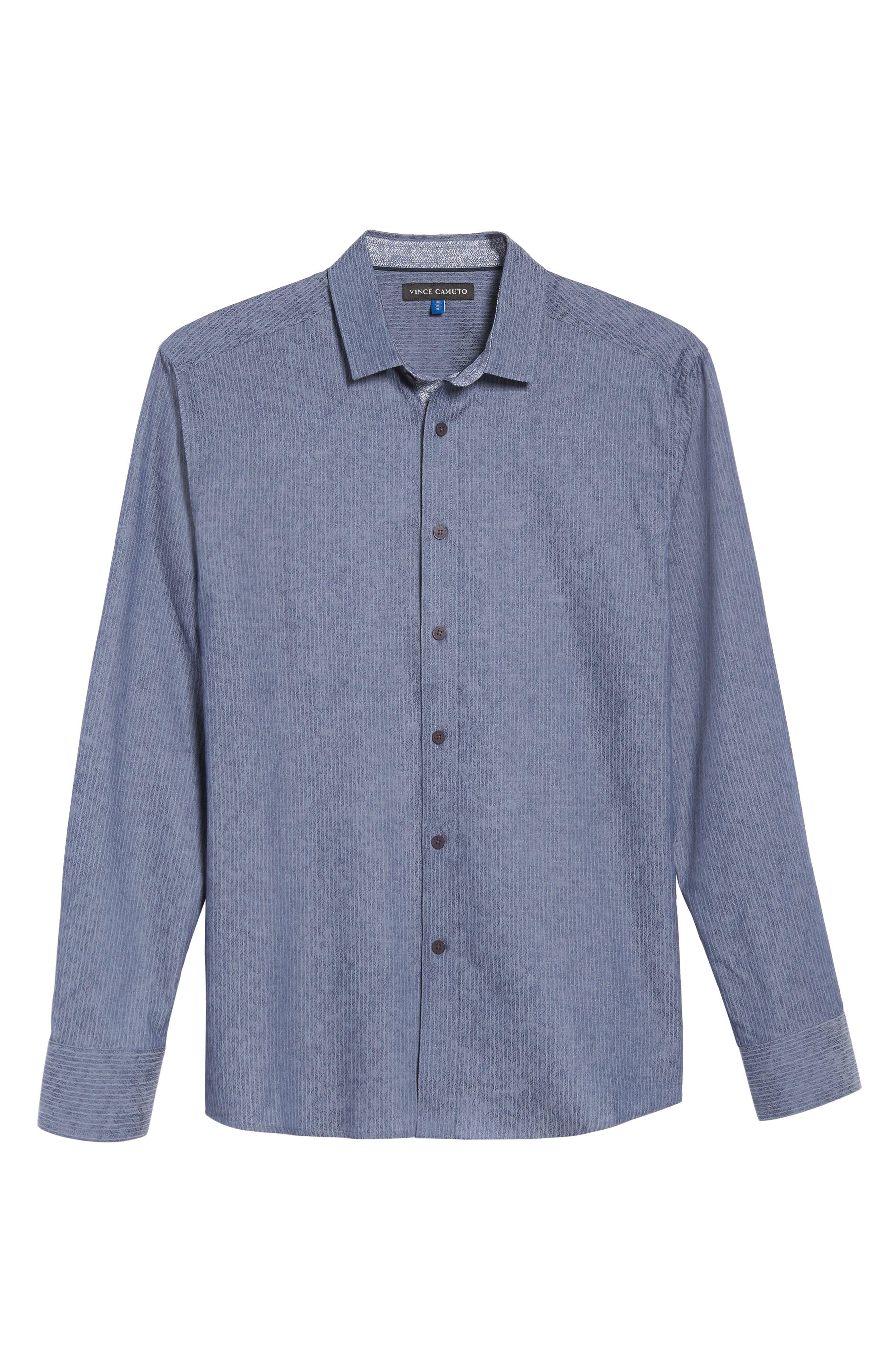 Alternate Image 6  - Vince Camuto Slim Fit Print Sport Shirt