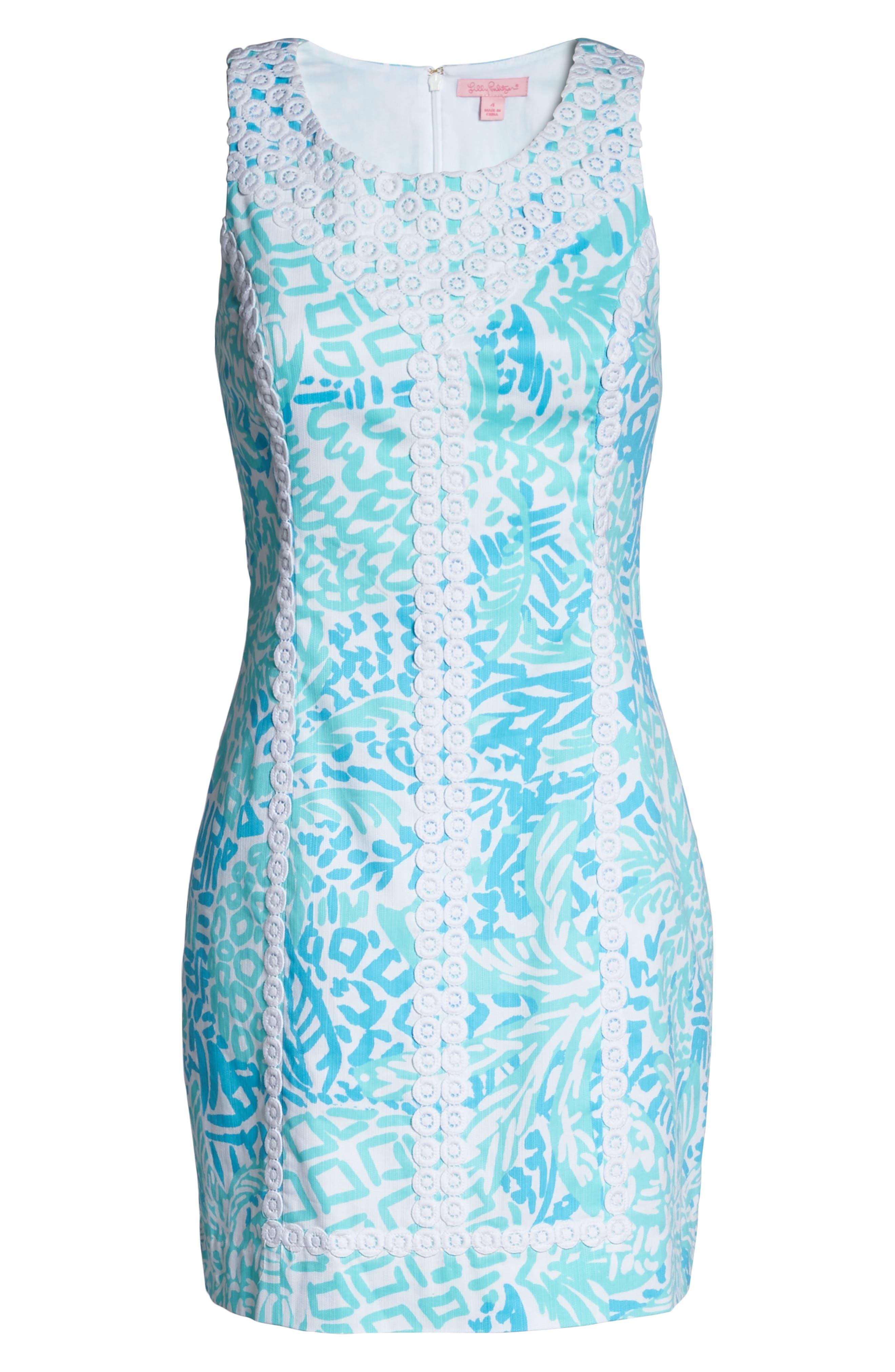 McFarlane Sheath dress,                             Alternate thumbnail 6, color,                             Seaside Aqua Home Slice
