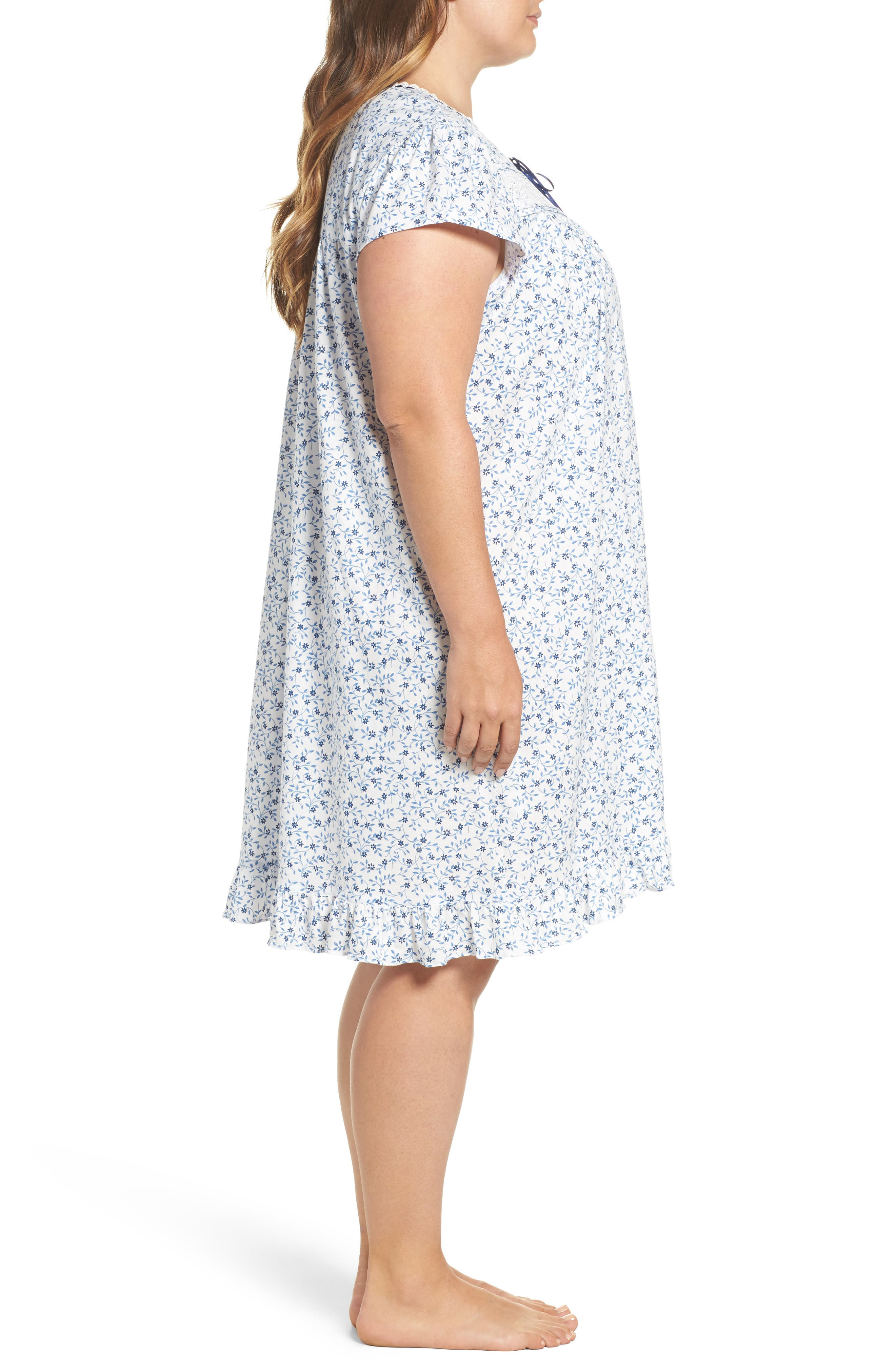 Short Nightgown,                             Alternate thumbnail 3, color,                             Blue