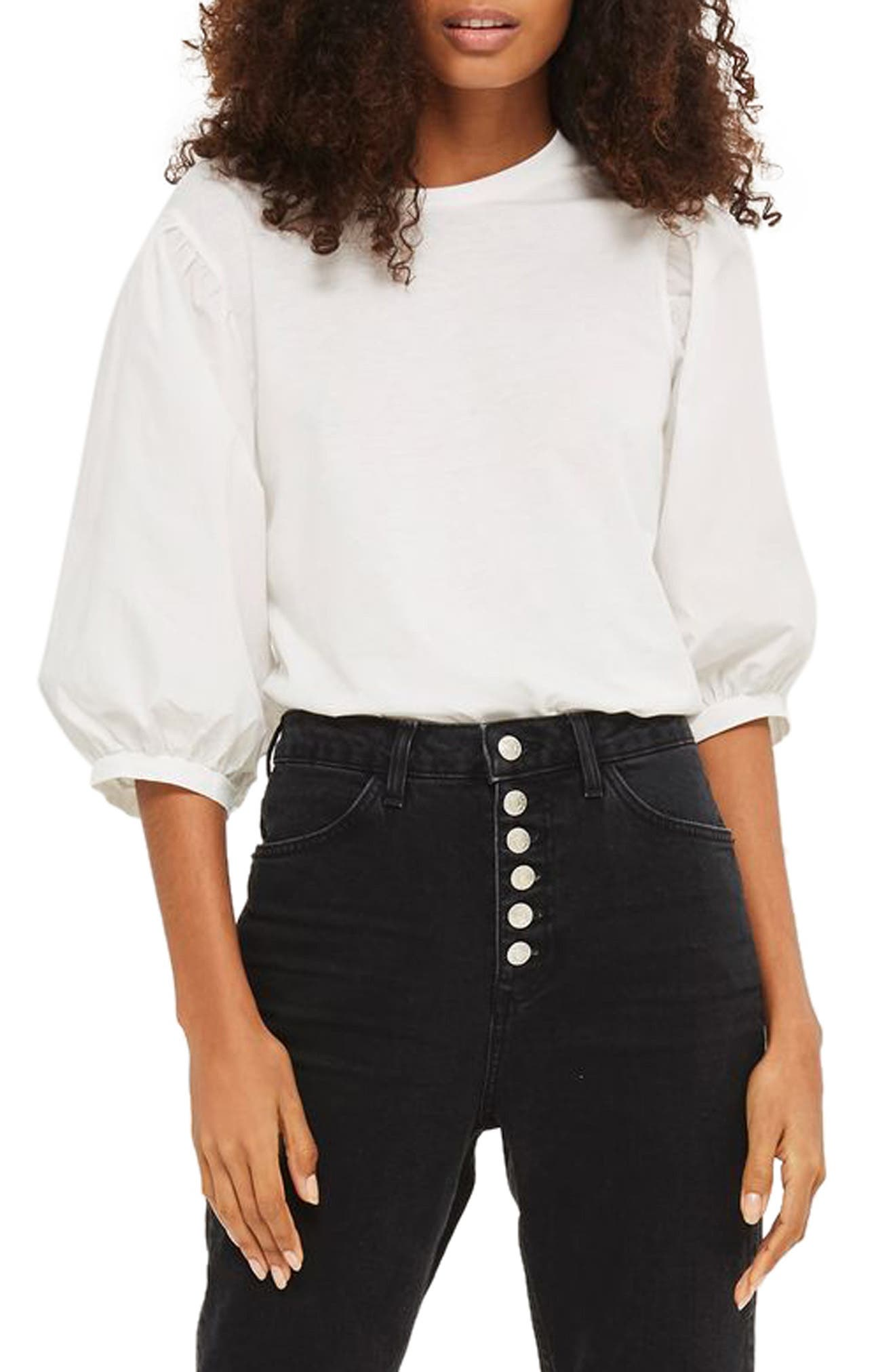 Topshop Balloon Sleeve Tee