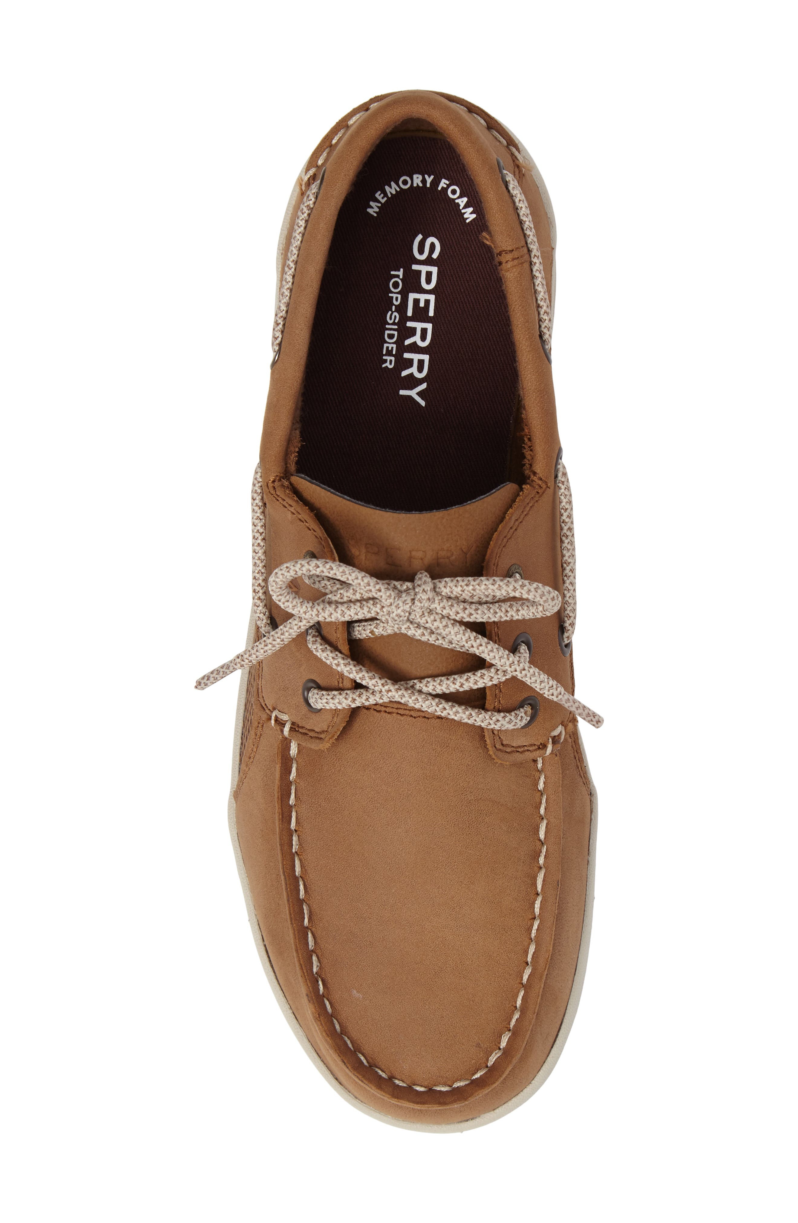Sperry Gamefish Boat Shoe,                             Alternate thumbnail 5, color,                             Dark Tan
