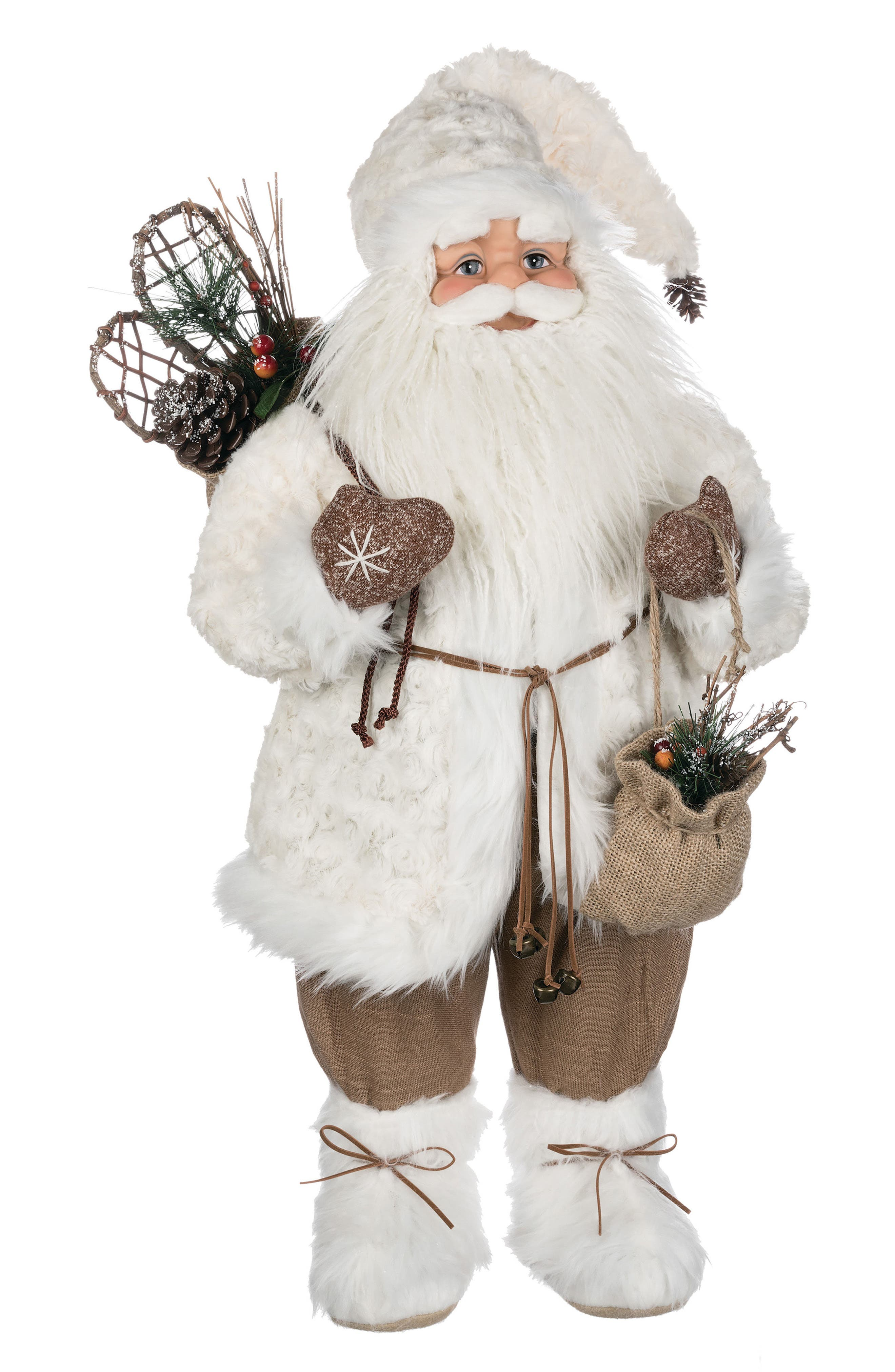 Santa Figurine,                             Main thumbnail 1, color,                             White