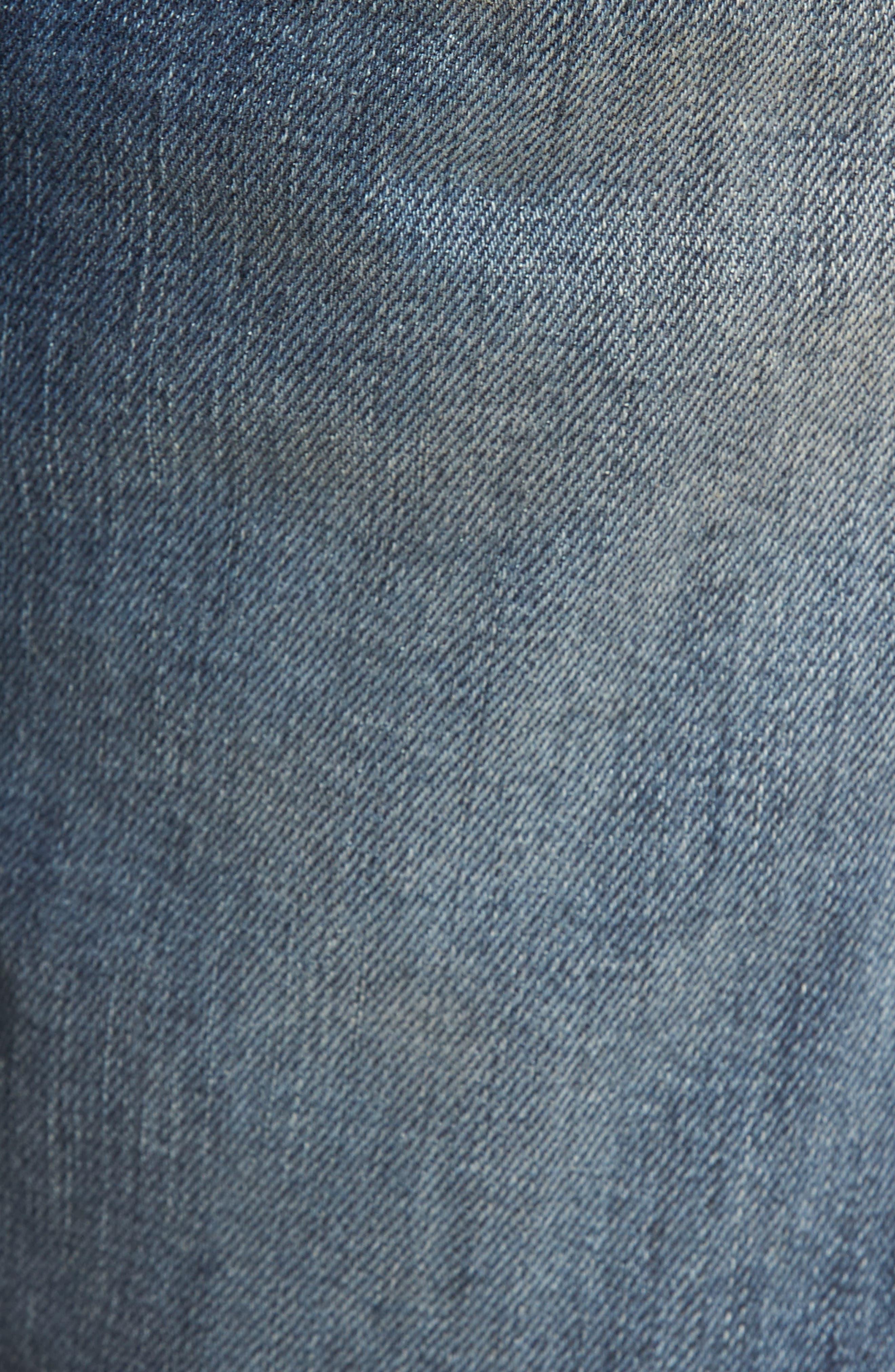 Blinder Biker Moto Skinny Fit Jeans,                             Alternate thumbnail 5, color,                             Babylon