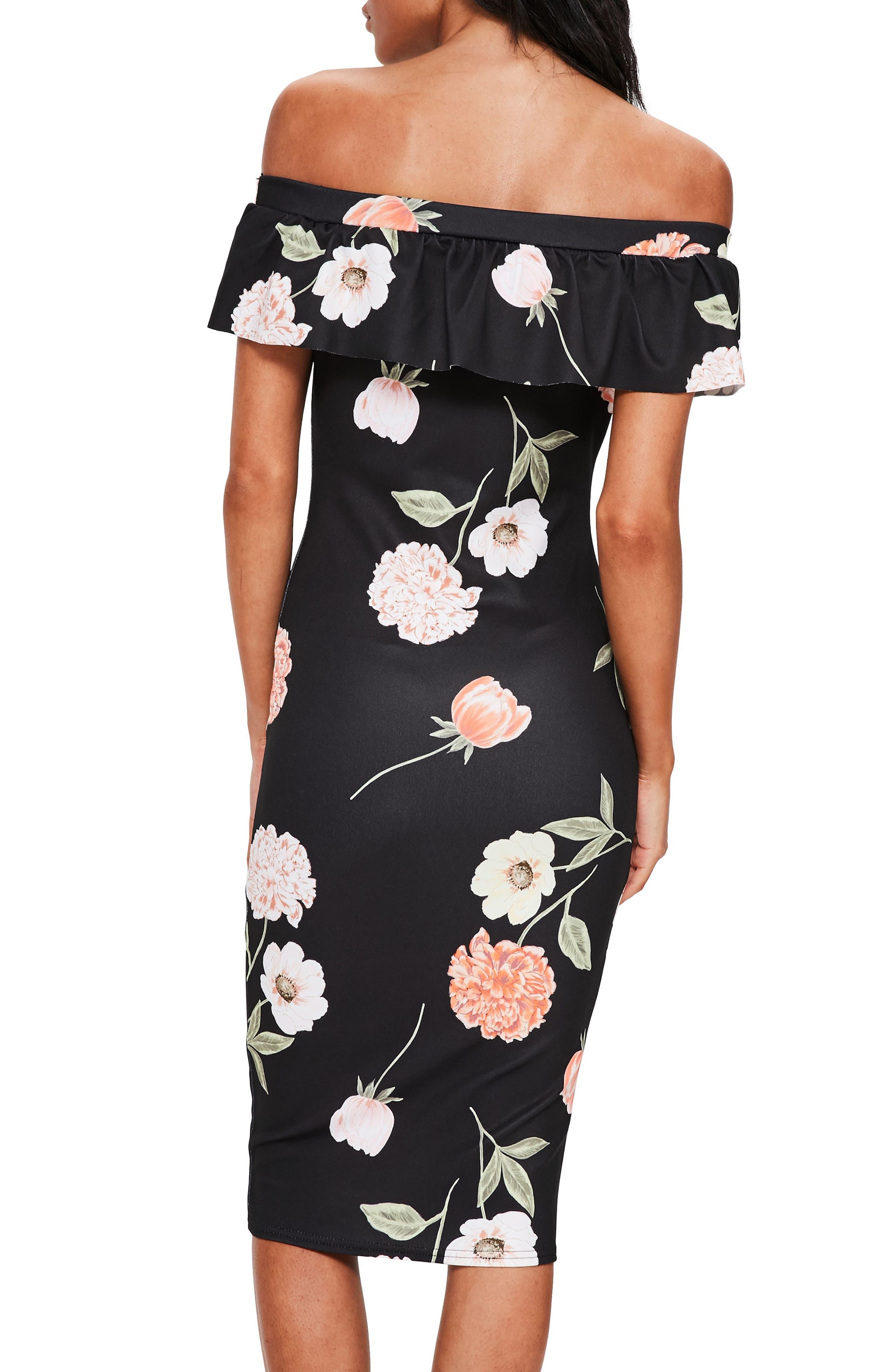 Alternate Image 2  - Missguided Bardot Off the Shoulder Midi Dress
