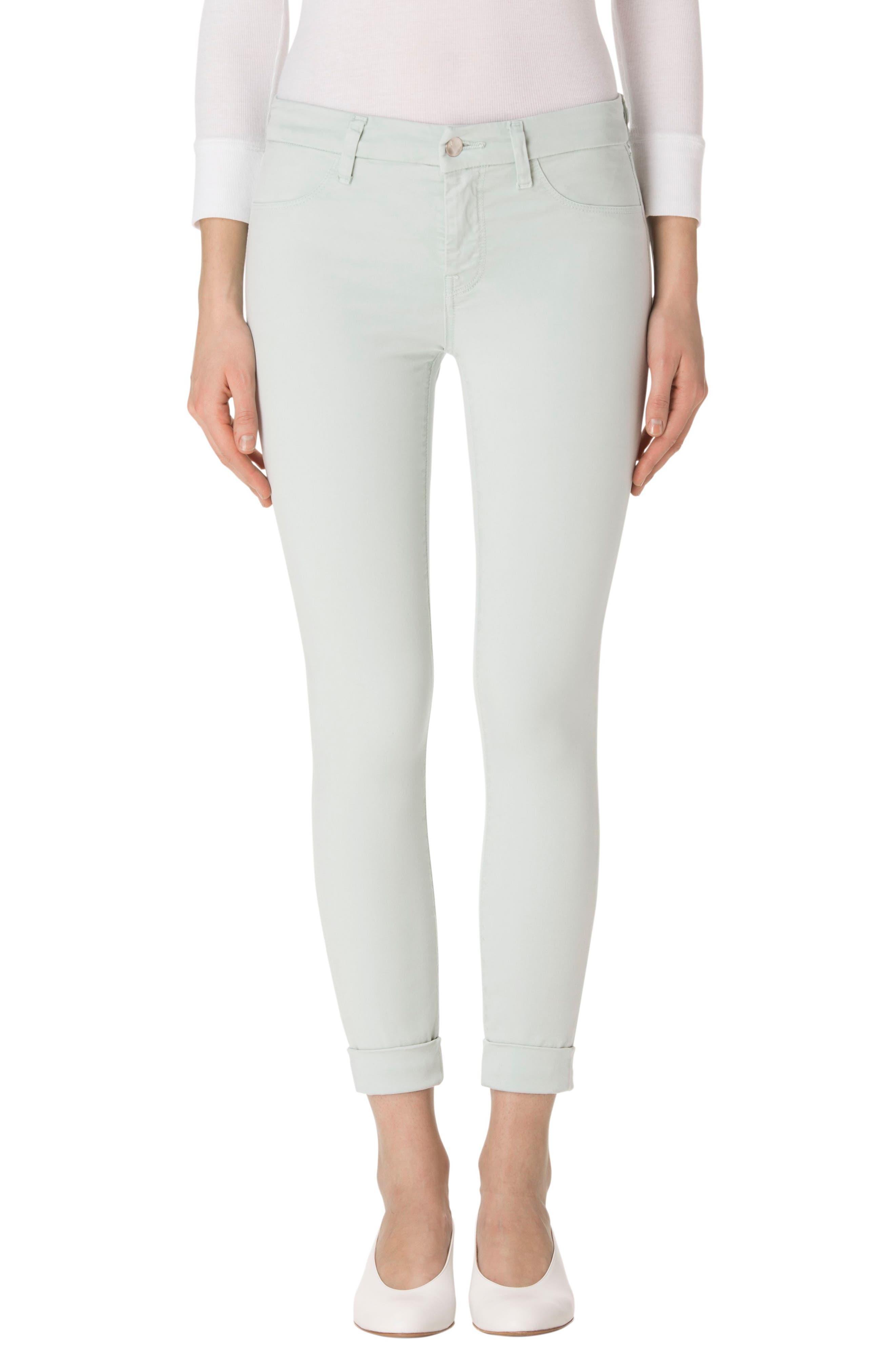 J BRAND Anja Cuffed Crop Skinny Jeans