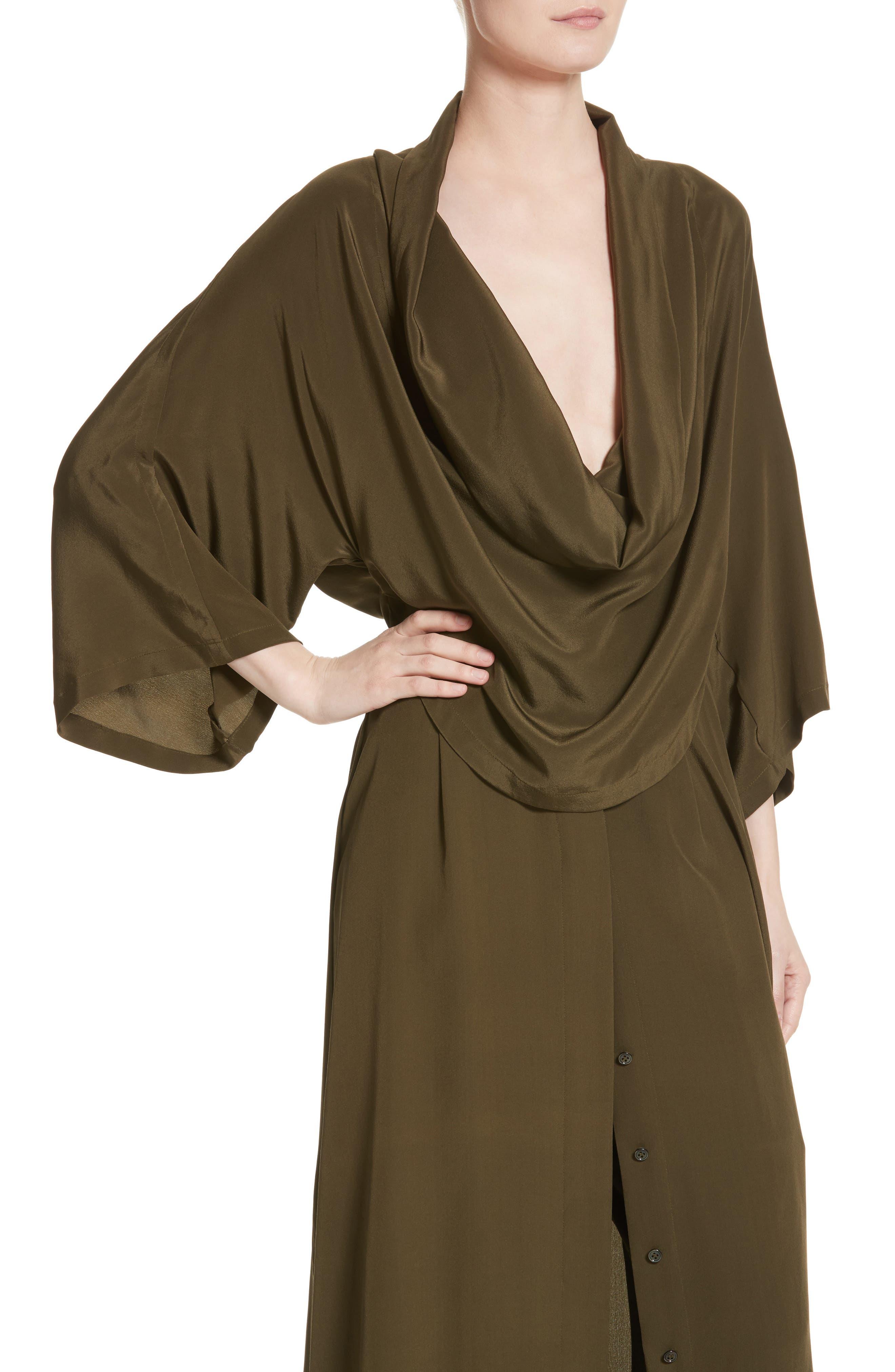 Alternate Image 4  - Michael Kors Silk Crêpe de Chine Cowl Neck Shirtdress