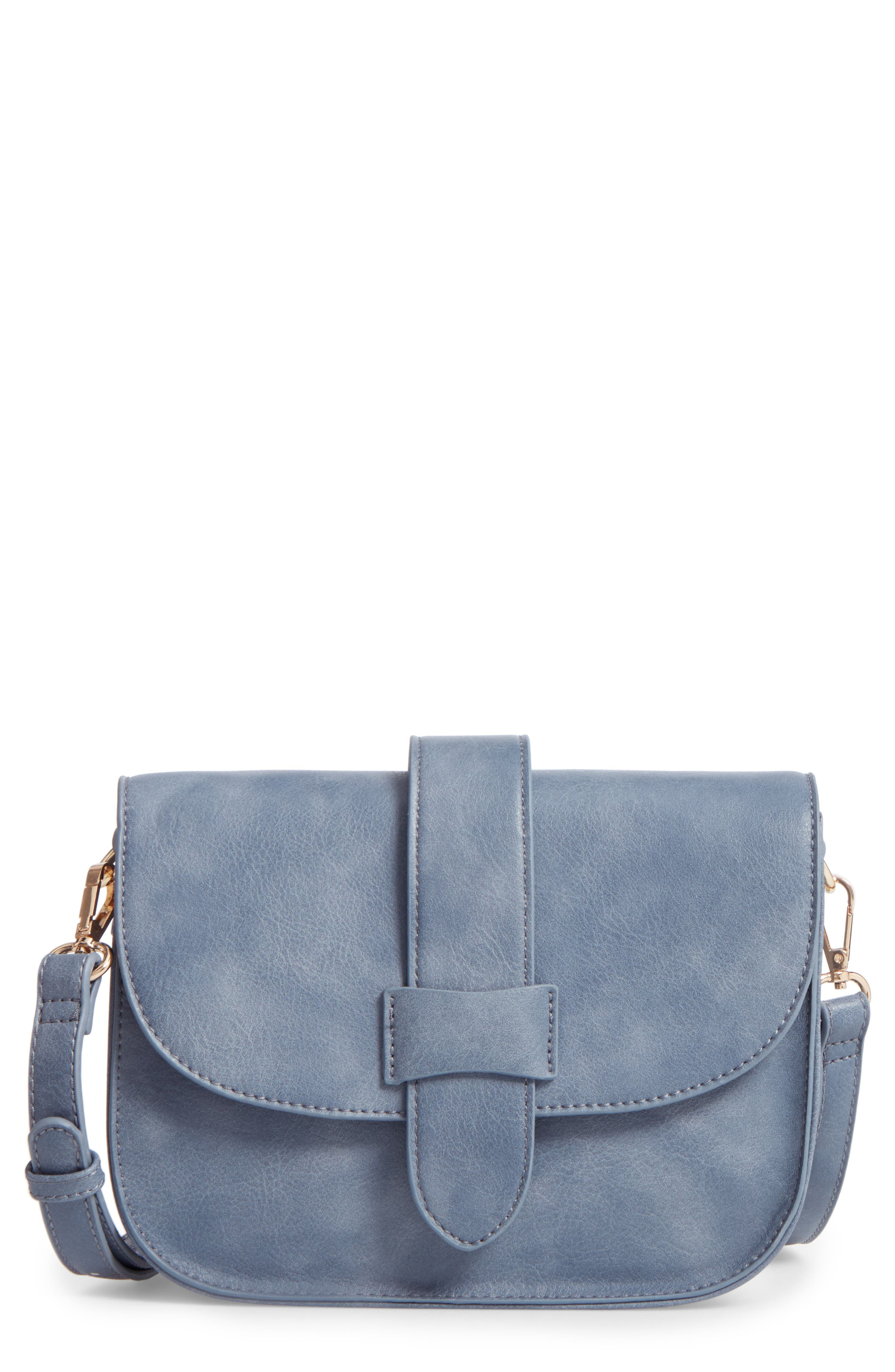 SOLE SOCIETY Halima Faux Leather Flap Crossbody