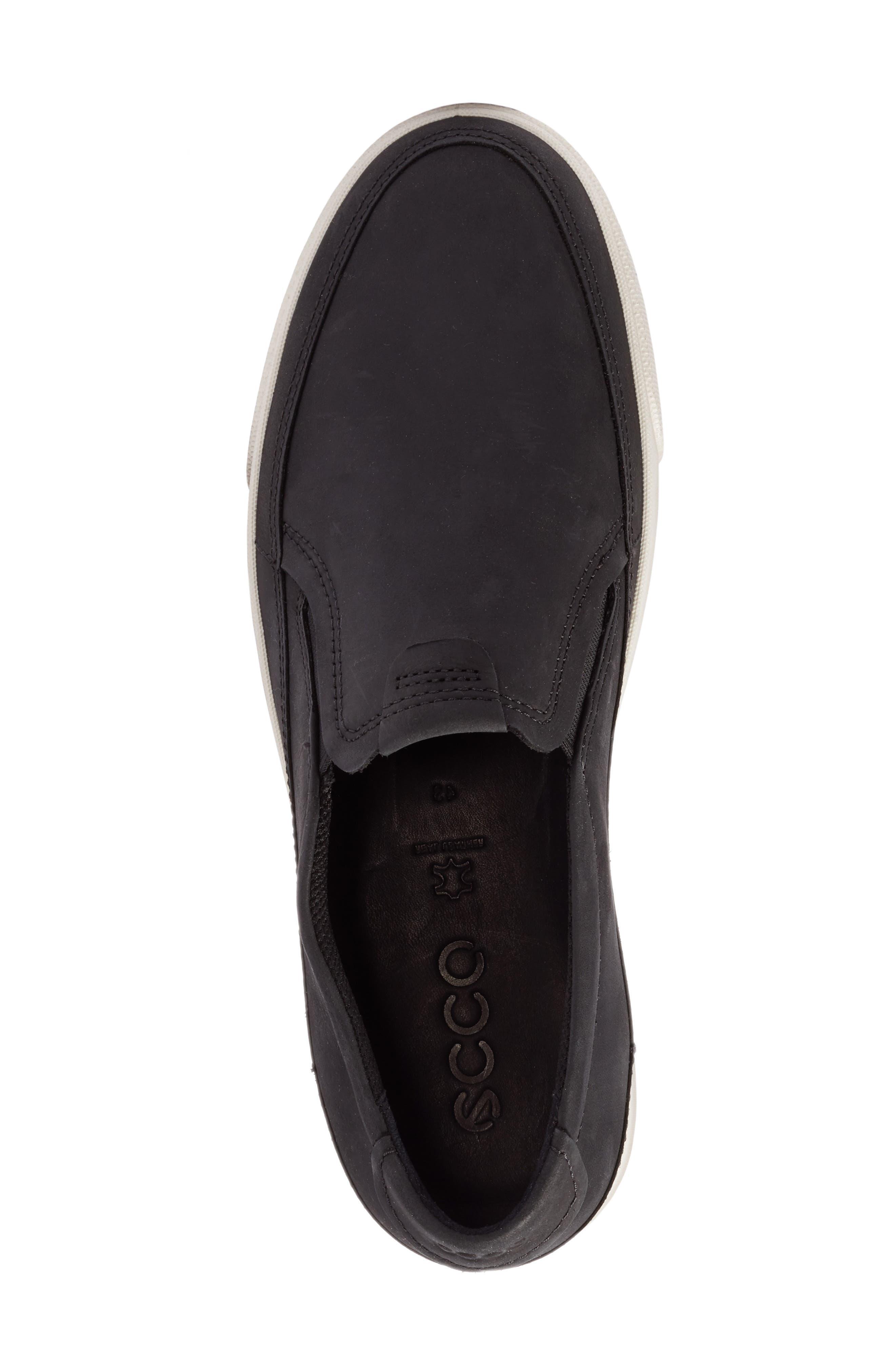 'Gary' Slip-On,                             Alternate thumbnail 5, color,                             Black Leather