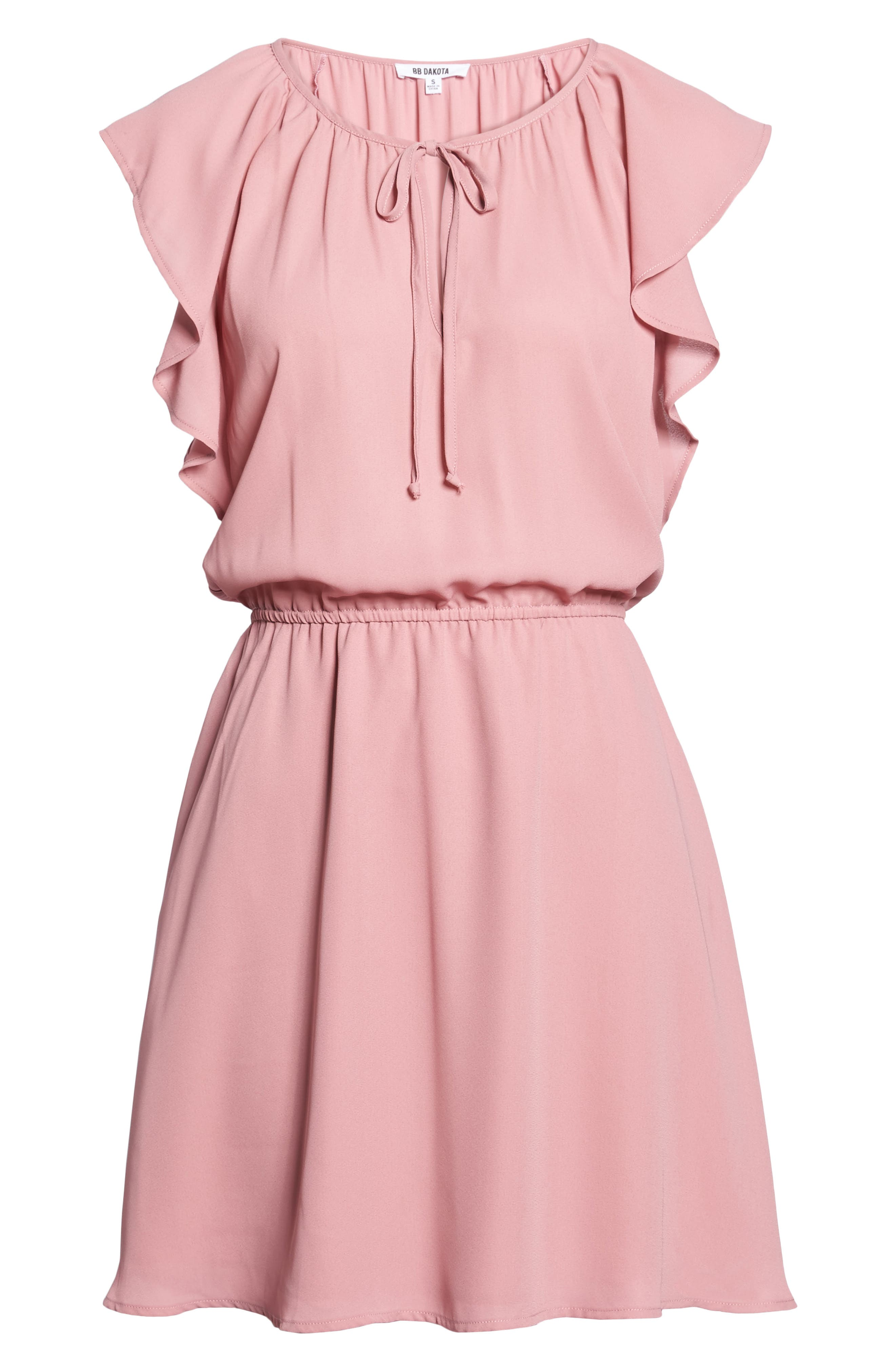 Adrienn Fit & Flare Dress,                             Alternate thumbnail 6, color,                             Dusty Rose