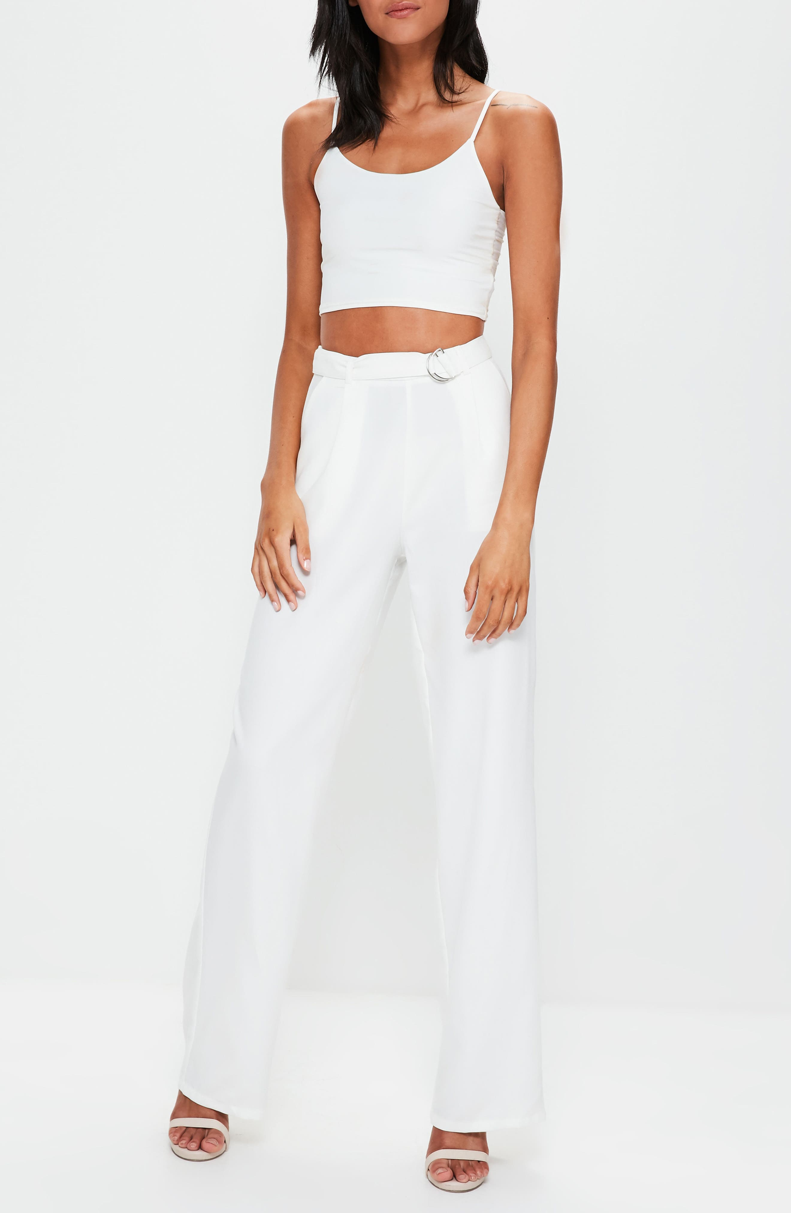 Alternate Image 4  - Missguided Wide Leg Trousers