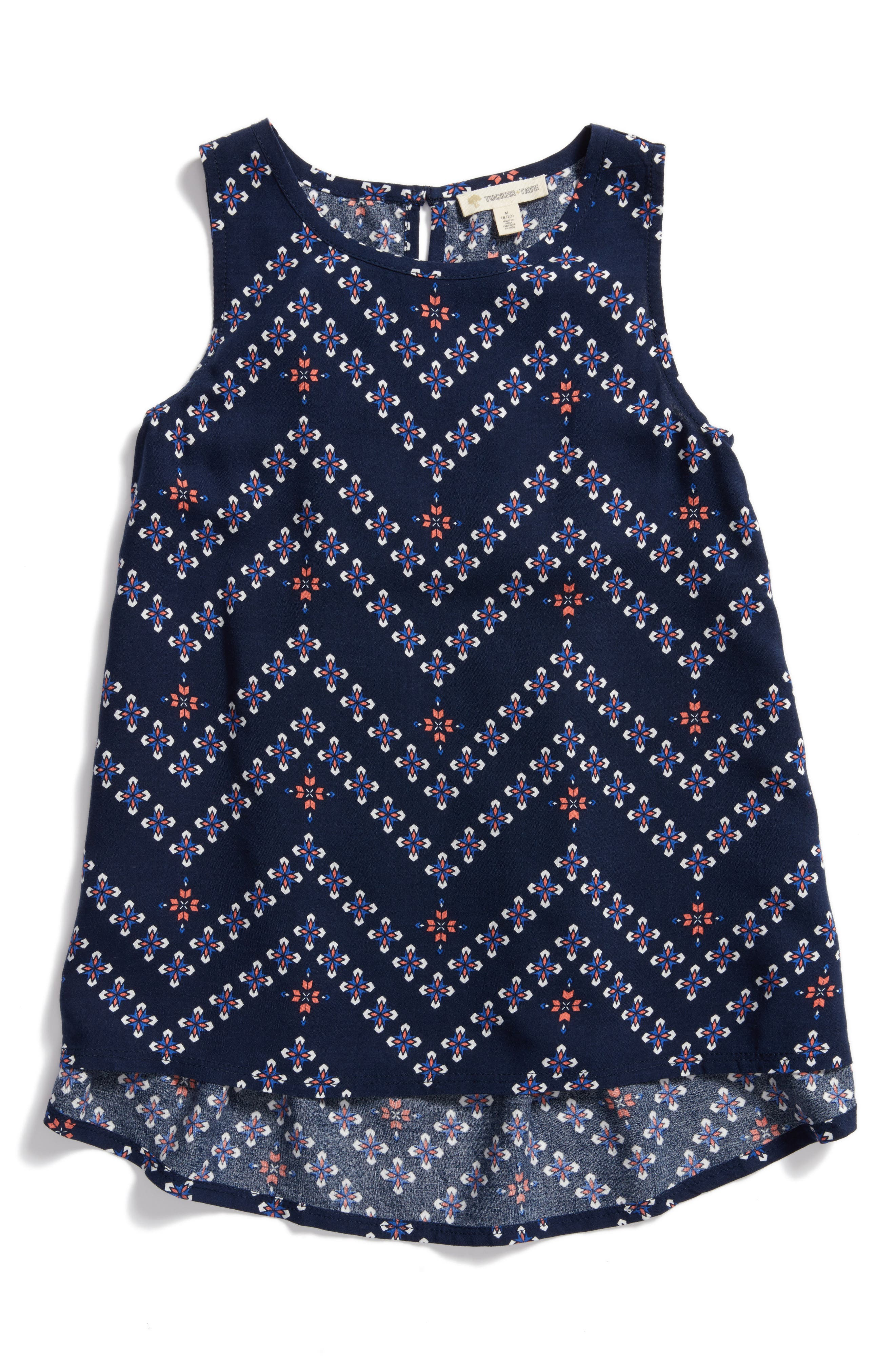 Alternate Image 1 Selected - Tucker + Tate Print Sleeveless Tunic (Big Girls)