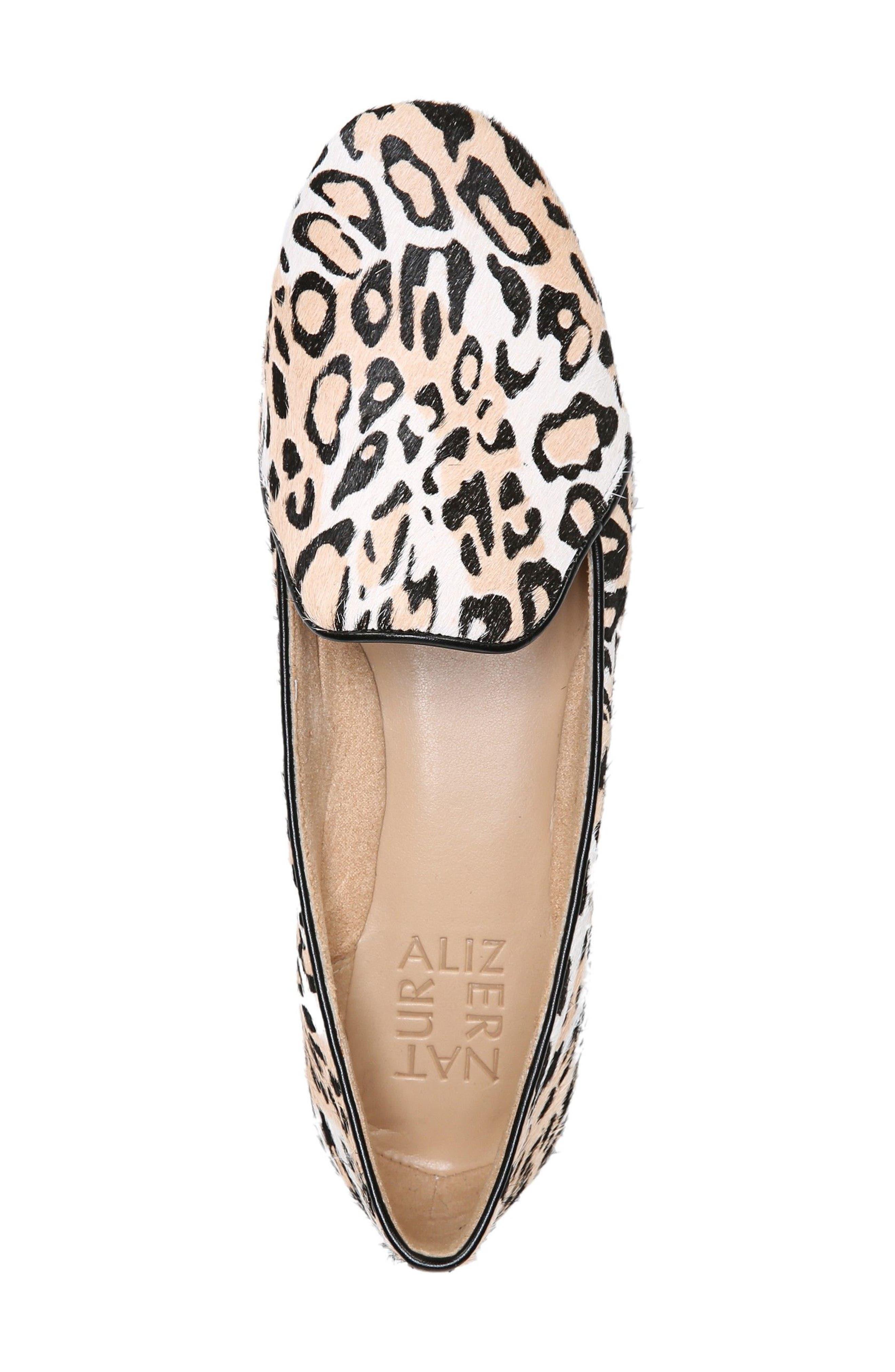 Emiline 2 Loafer,                             Alternate thumbnail 5, color,                             Cheetah Brahma Hair