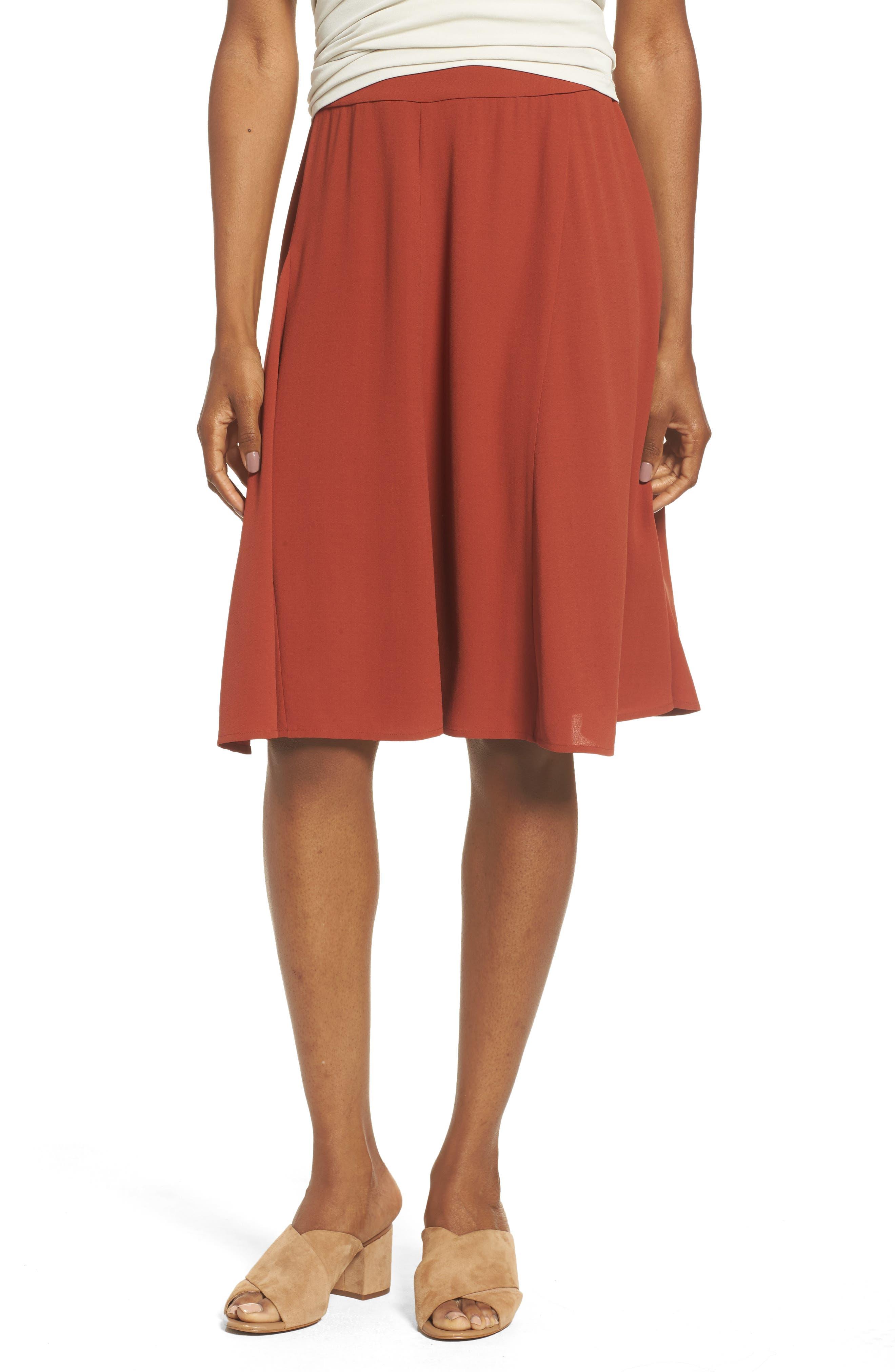 Alternate Image 1 Selected - Eileen Fisher Gored Silk Skirt