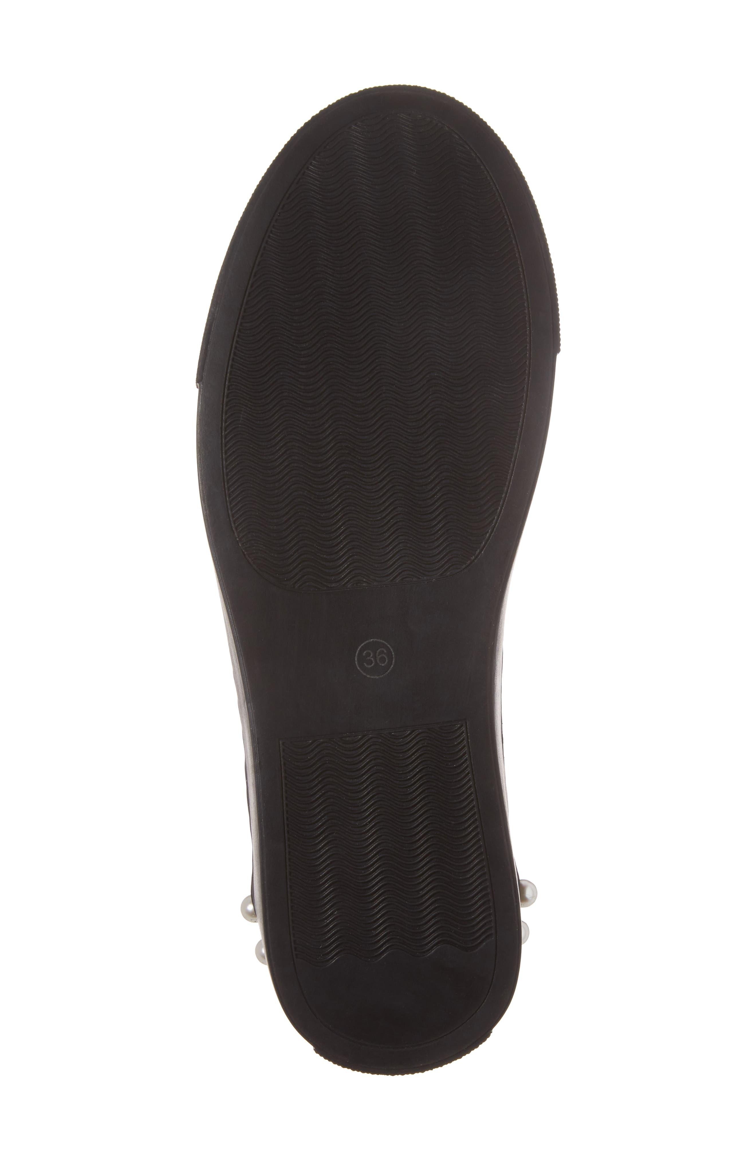 Haig Embellished Sneaker,                             Alternate thumbnail 6, color,                             Black