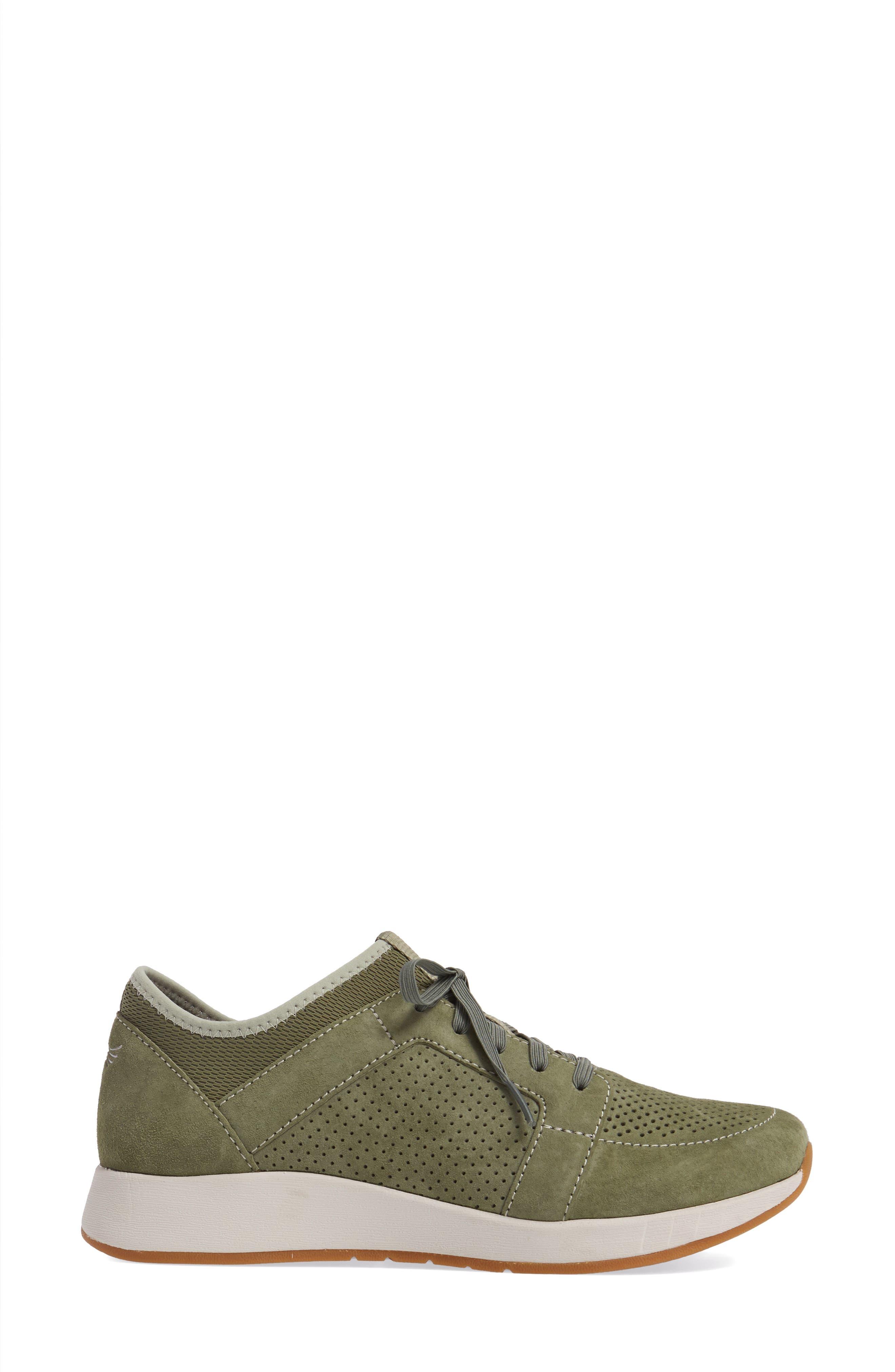 Cozette Slip-On Sneaker,                             Alternate thumbnail 3, color,                             Sage Suede
