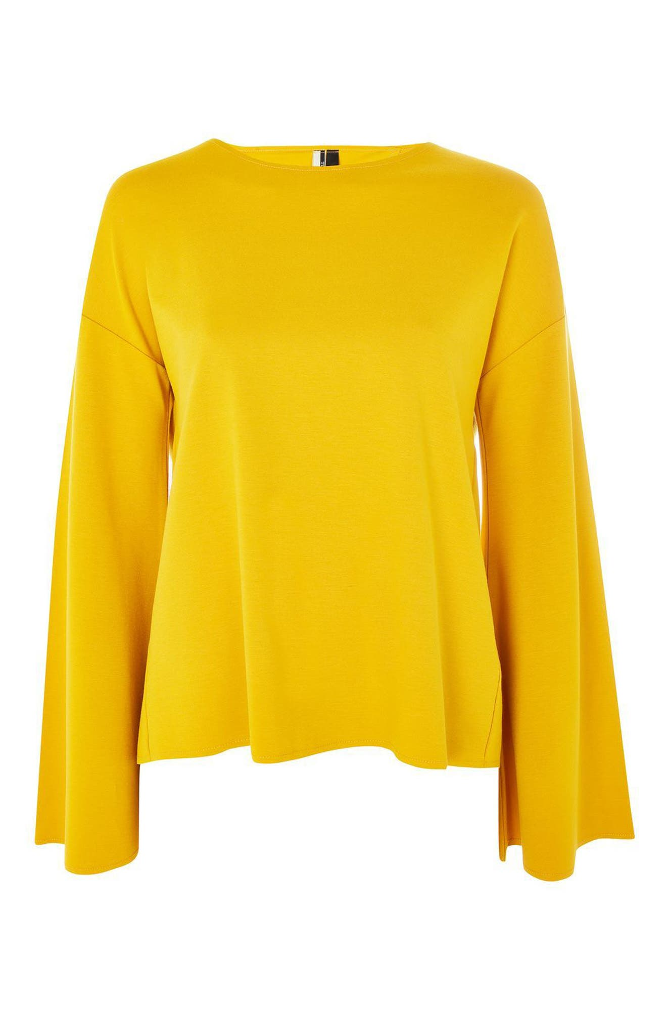 Alternate Image 5  - Topshop Split Back Bell Sleeve Sweatshirt