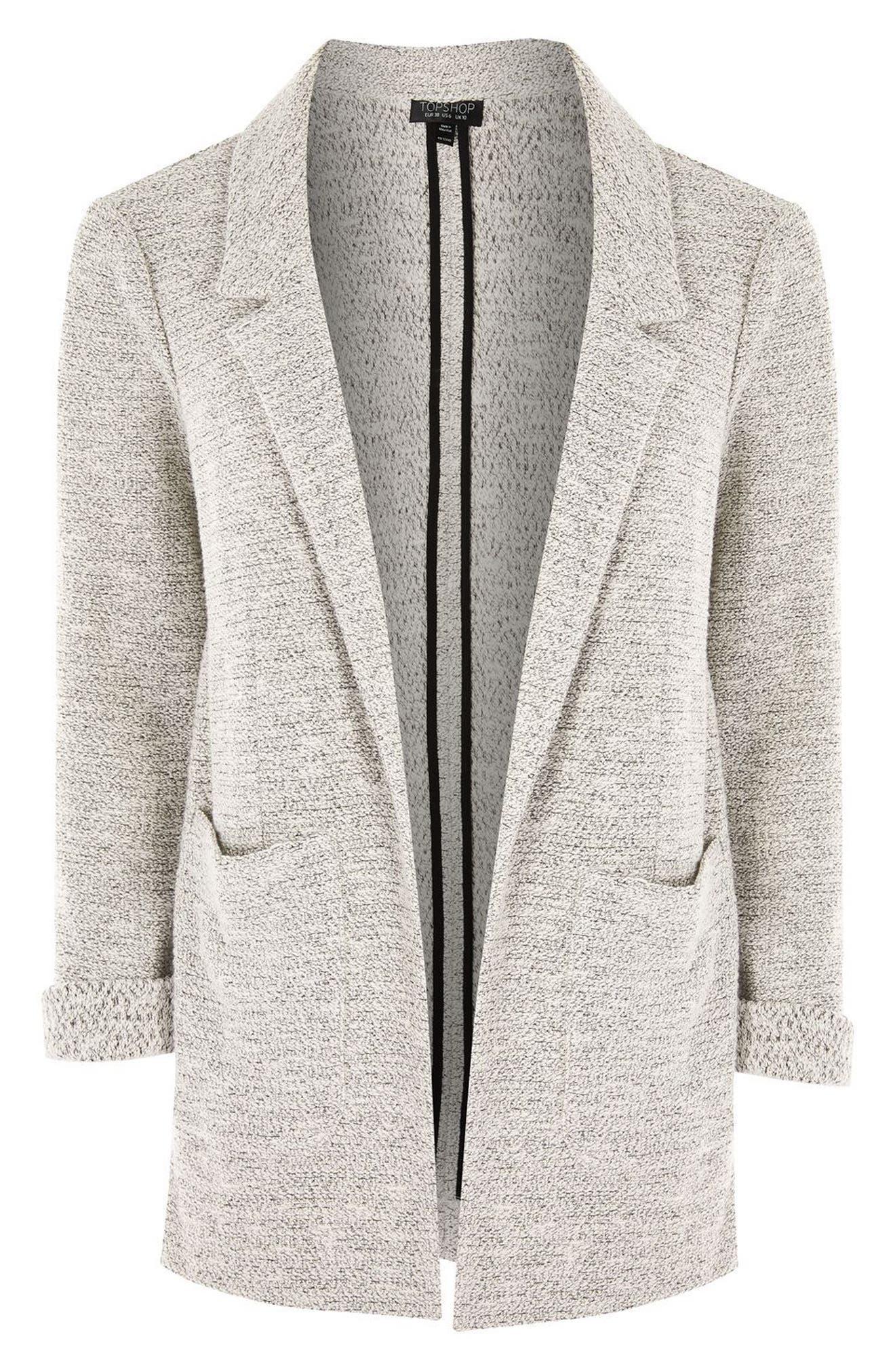 Alternate Image 4  - Topshop Textured Jersey Blazer