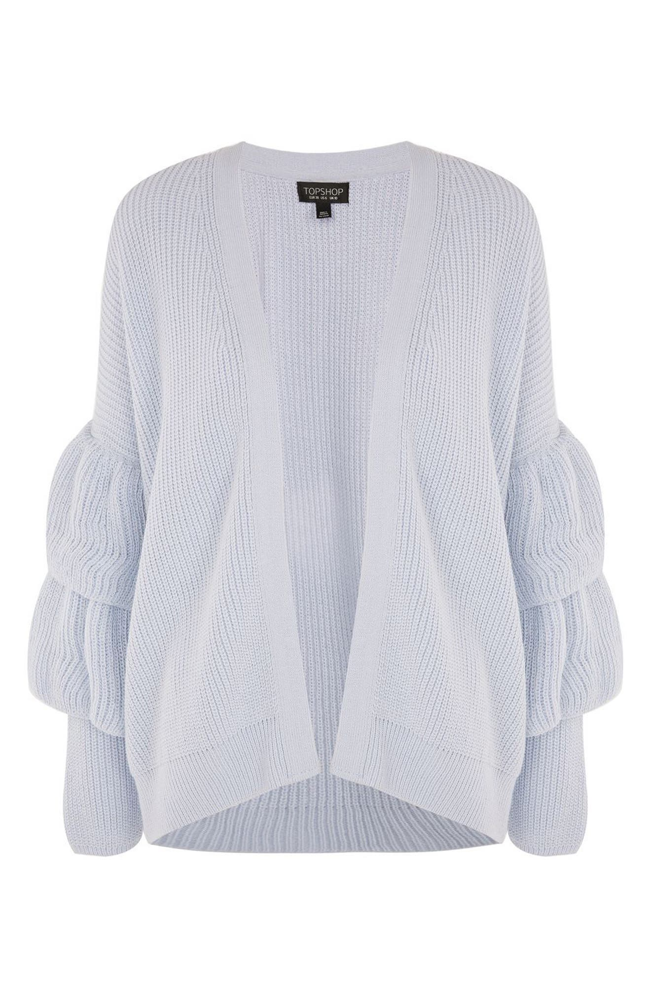 Alternate Image 5  - Topshop Layered Ruffle Sleeve Cardigan