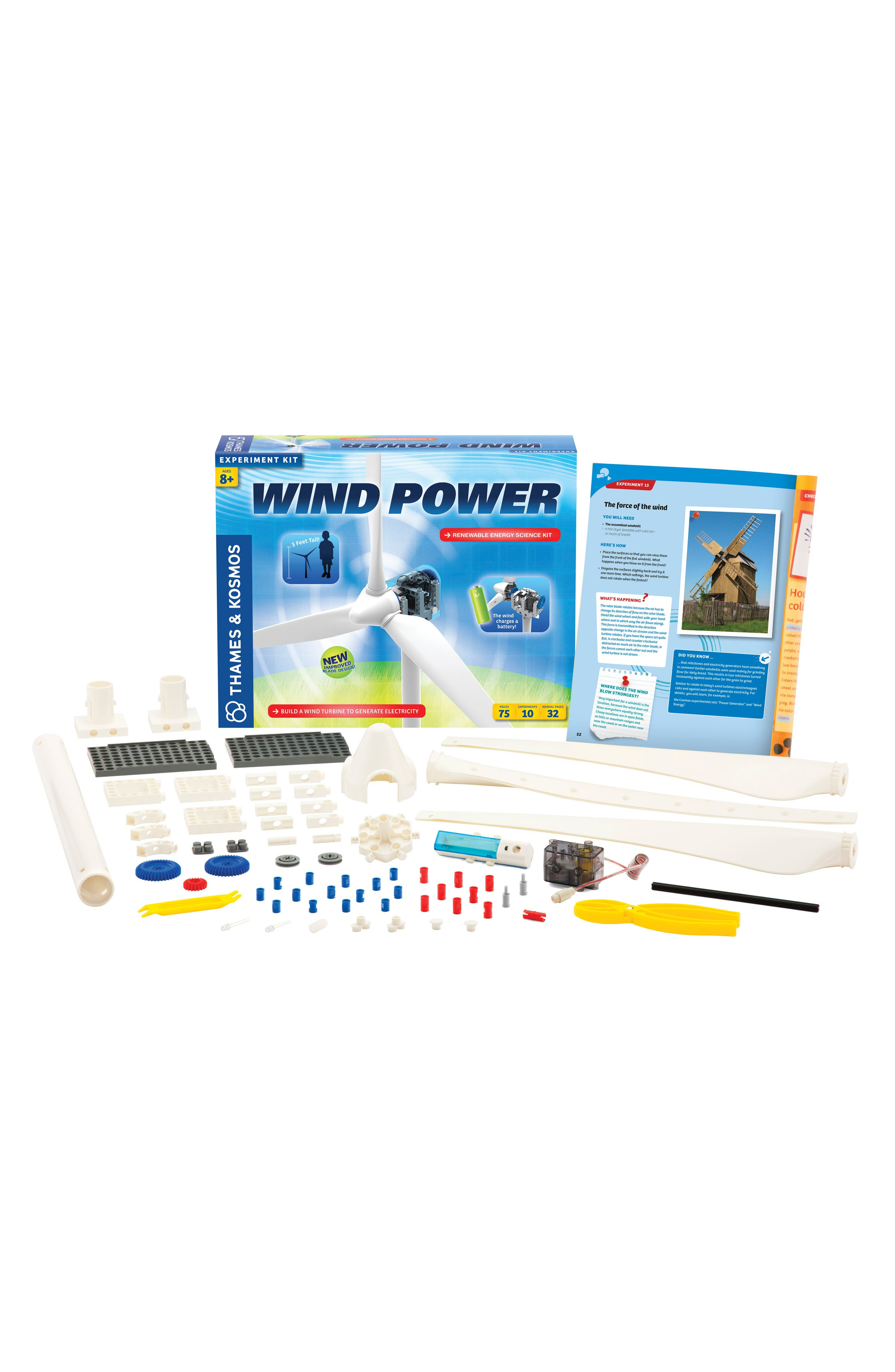 'Wind Power V3.0' Experiment Kit,                         Main,                         color, Blue