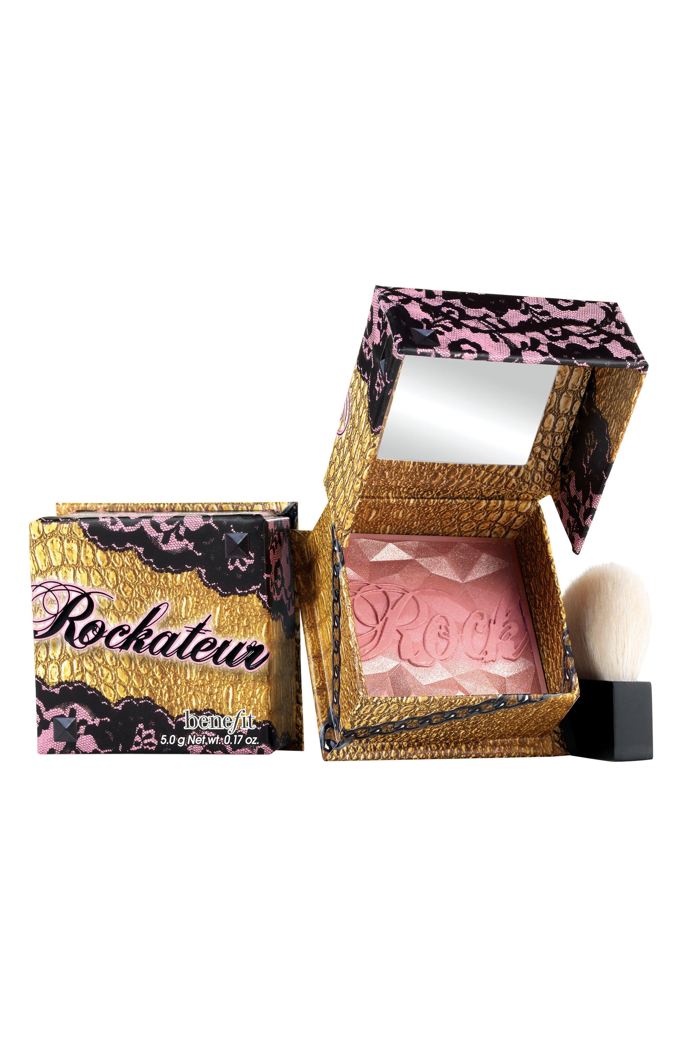 Benefit Rockateur Rose Gold Powder Blush,                         Main,                         color, Rose Gold