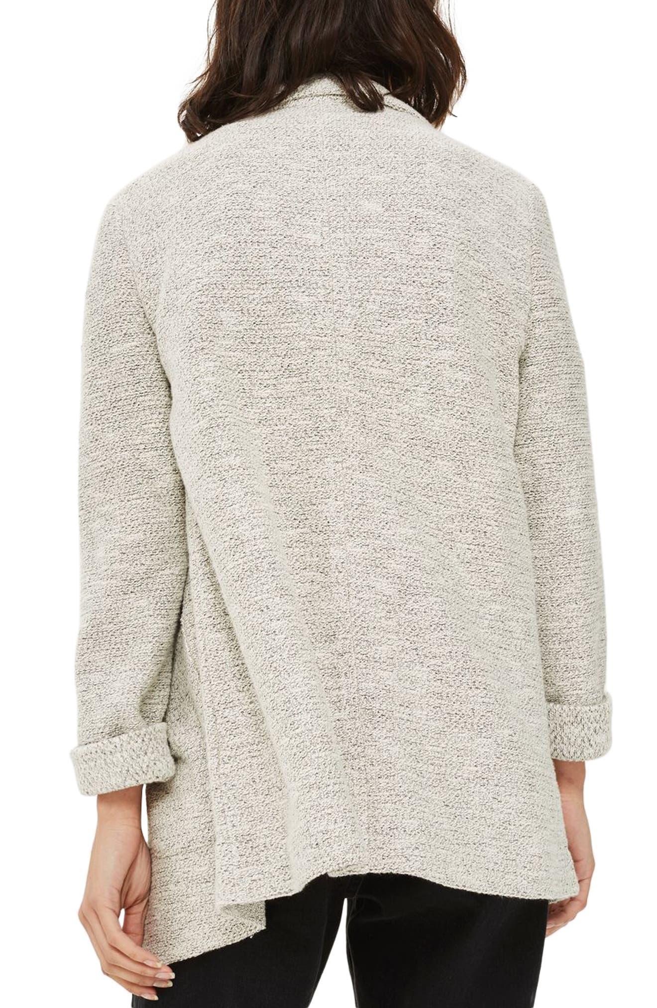 Alternate Image 2  - Topshop Textured Jersey Blazer