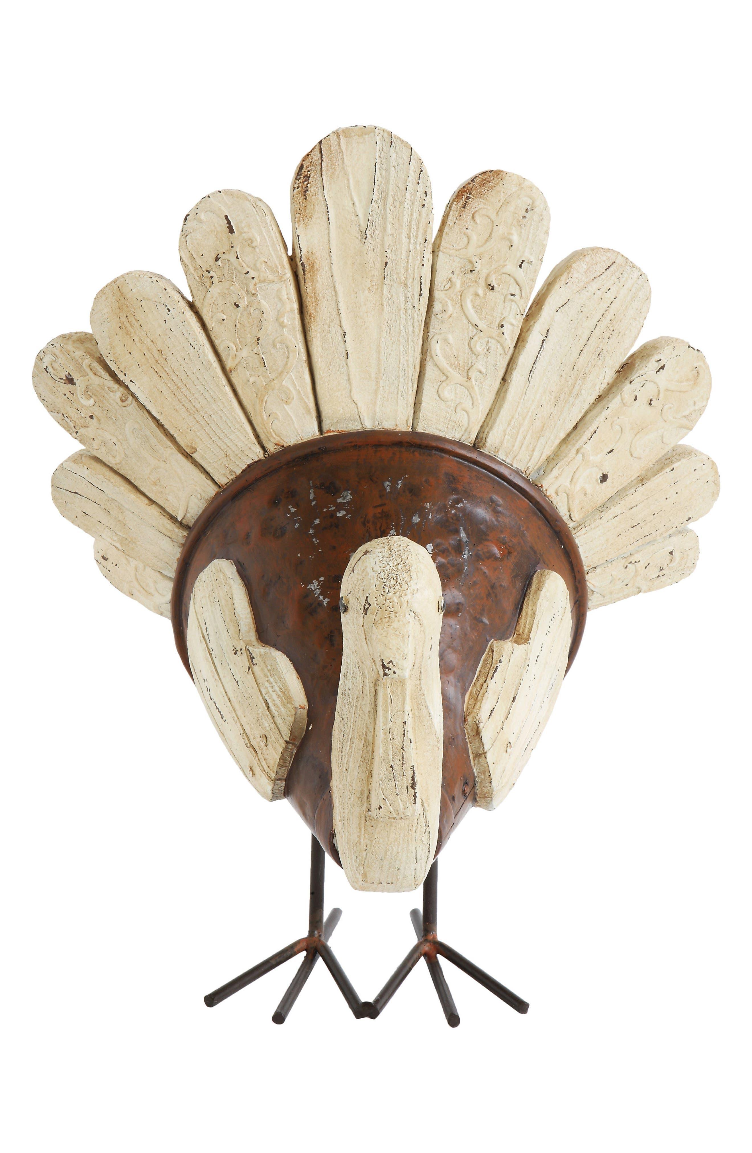 Creative Co-Op Turkey Centerpiece