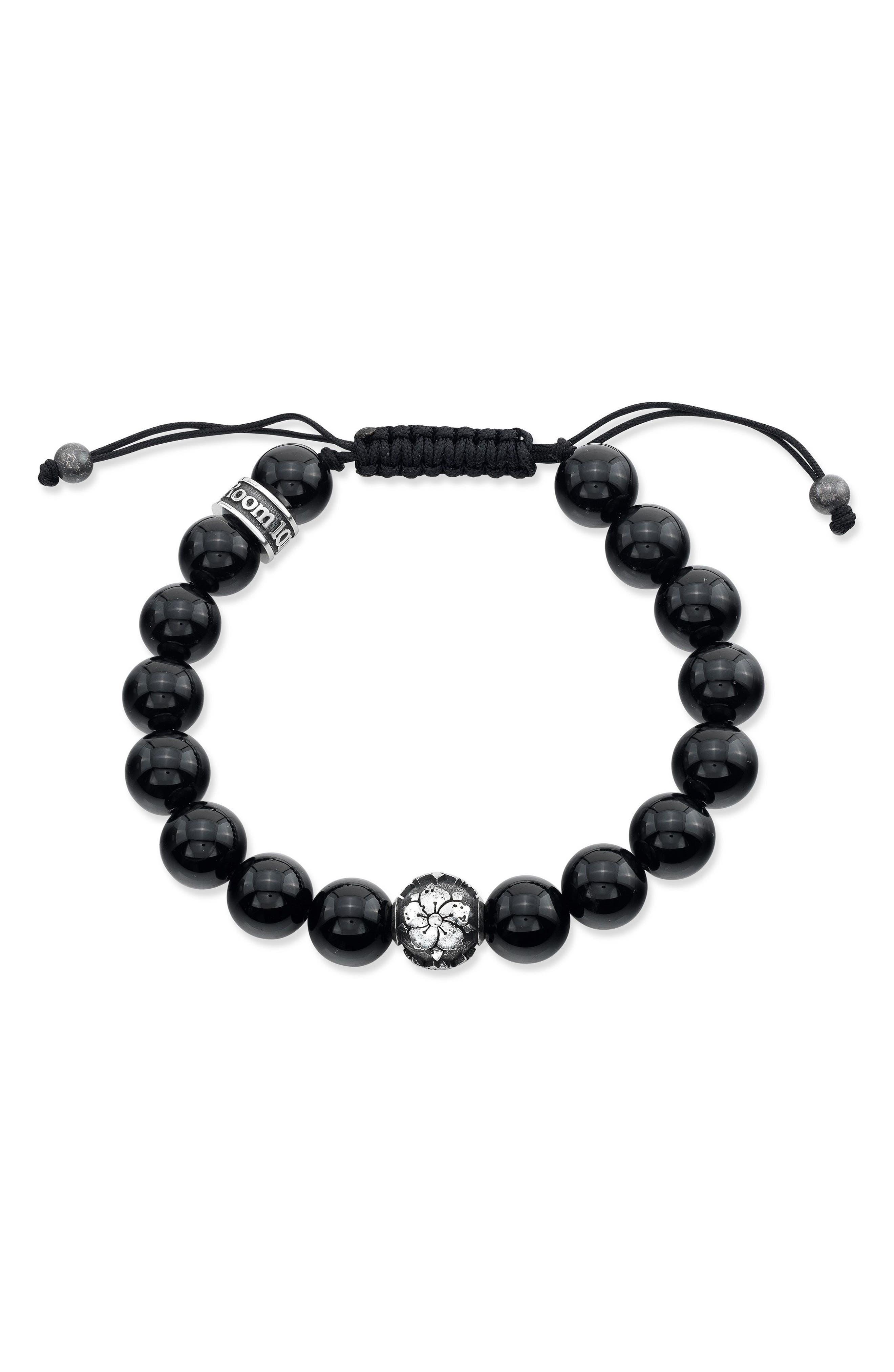 Main Image - Room101 Agate Bead Shamballa Bracelet