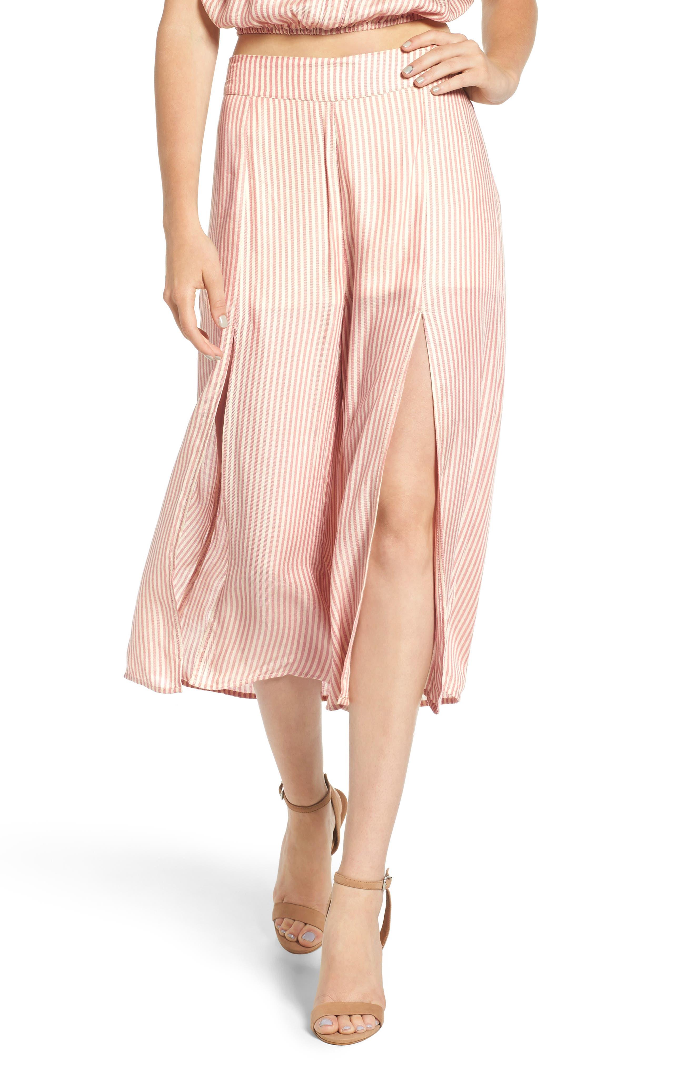 LOVE, FIRE Stripe Culottes