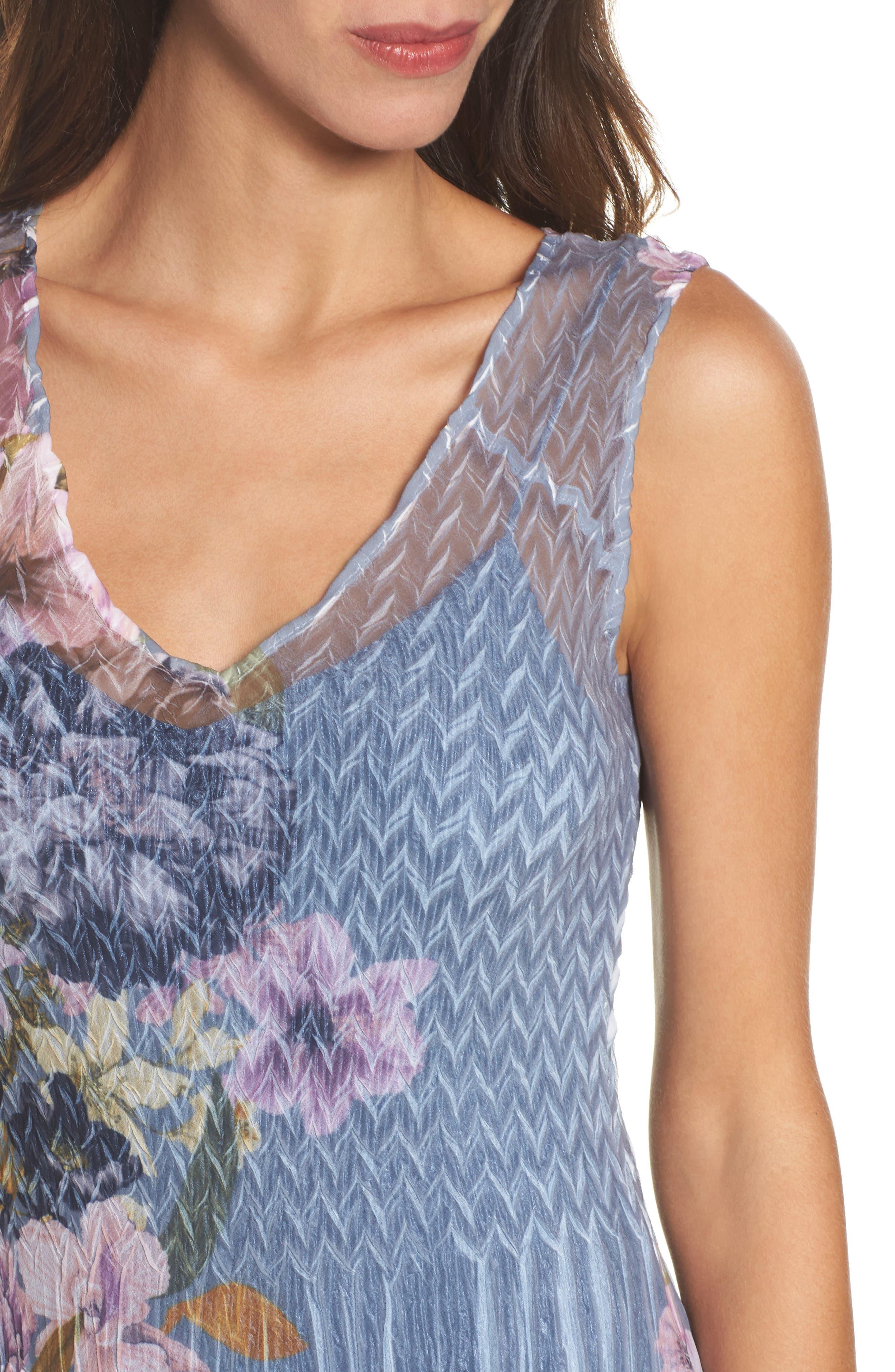 Alternate Image 4  - Komarov Chiffon & Lace A-Line Dress with Shawl (Regular & Petite)