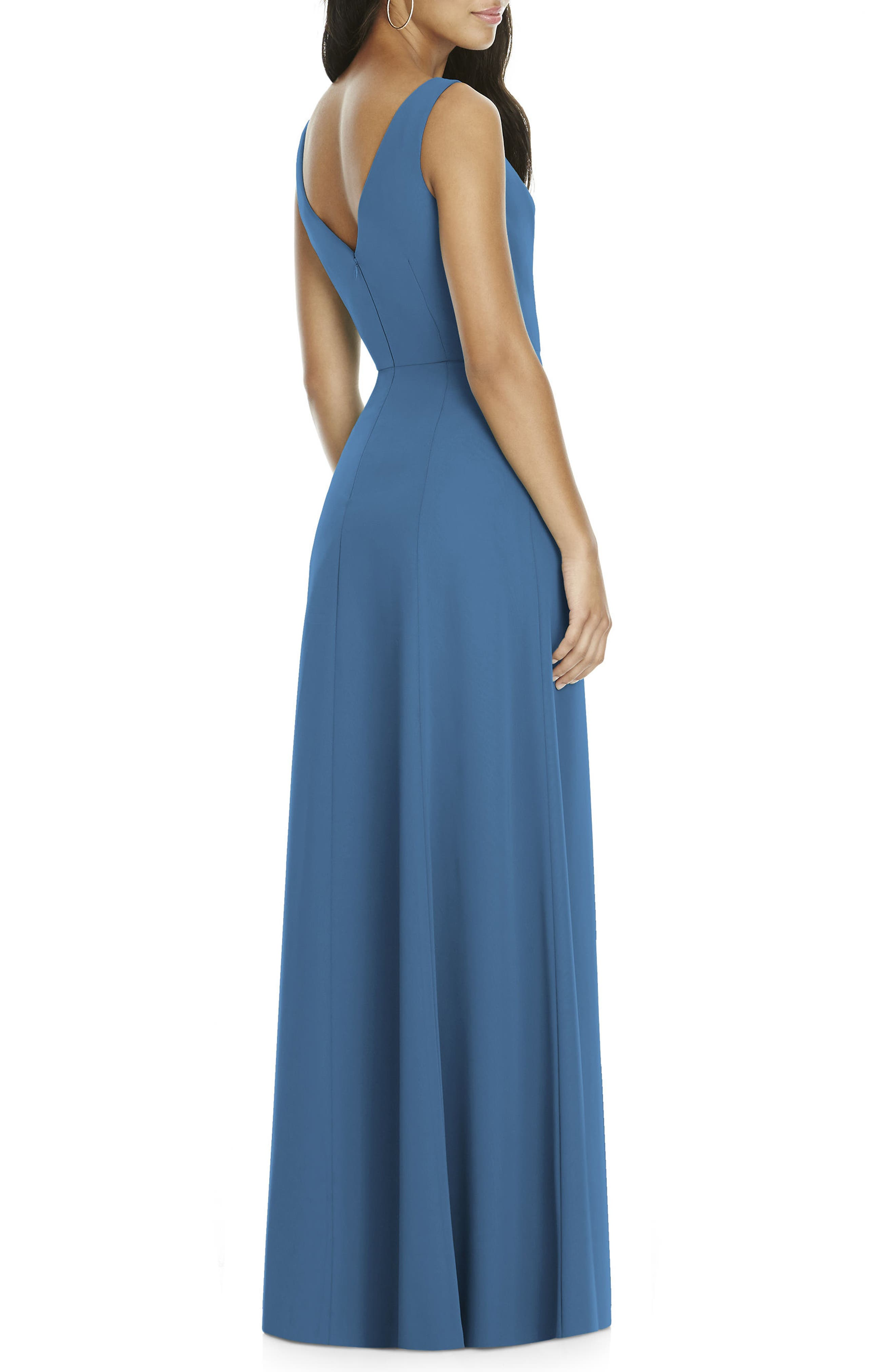 Alternate Image 2  - Social Bridesmaids Cowl Neck Chiffon Gown