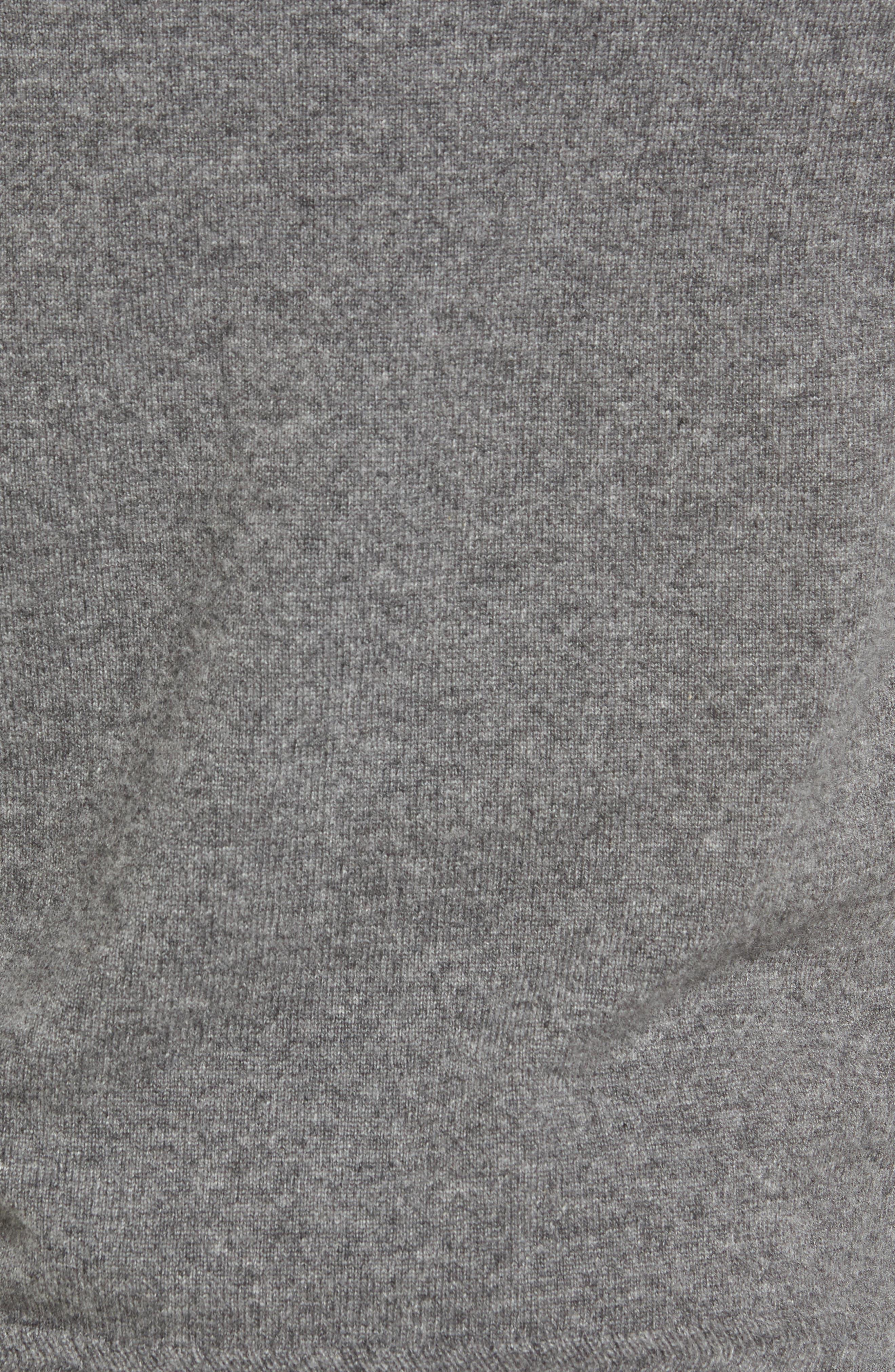Alternate Image 5  - John W. Nordstrom® Quarter Zip Cashmere Sweater (Regular & Tall)