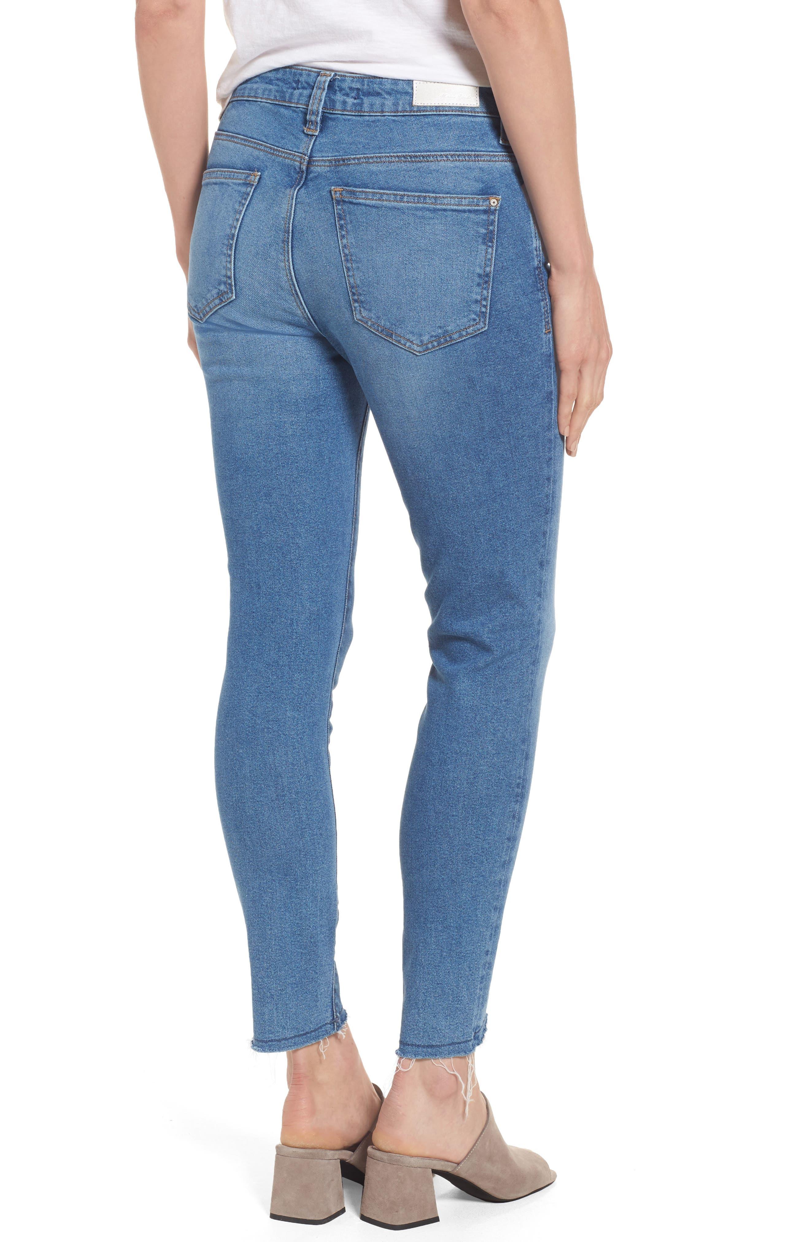 Alternate Image 2  - Mavi Jeans Tess Blocked Super Skinny Jeans (Mid Gold Icon)