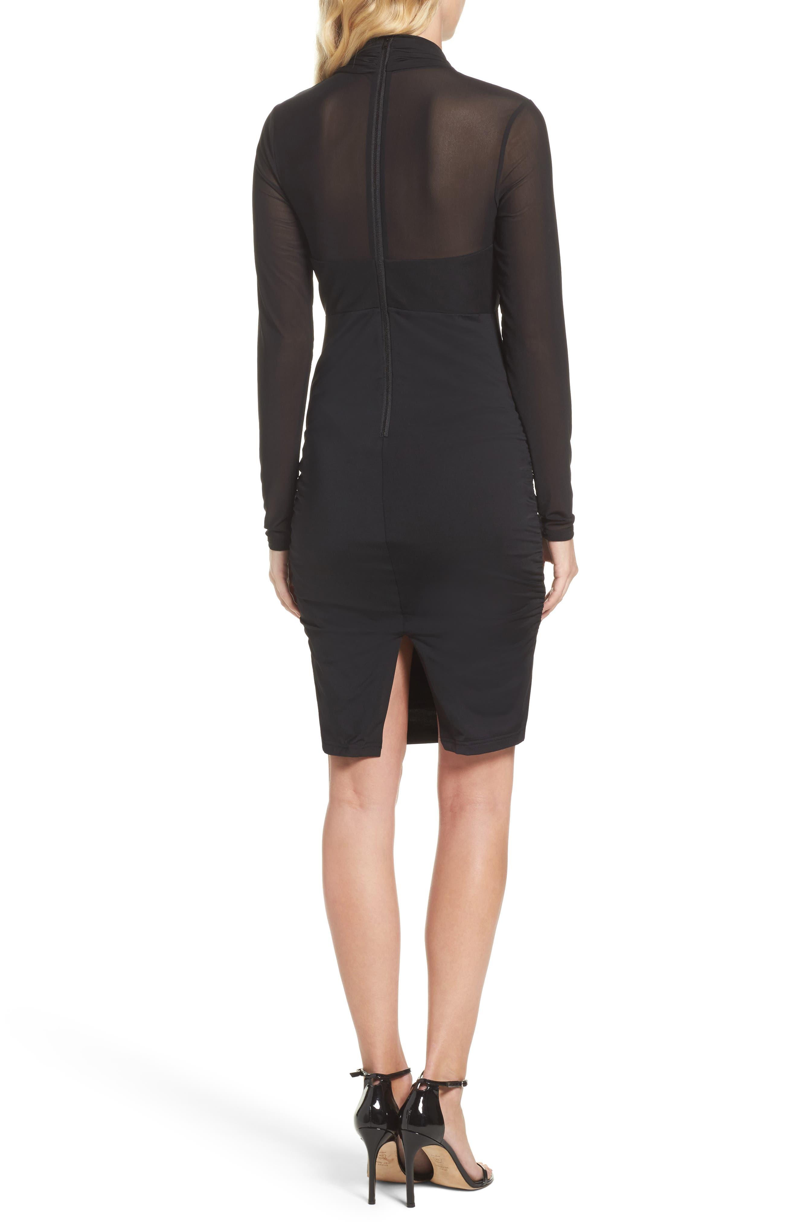 Allure Sheath Dress,                             Alternate thumbnail 2, color,                             Black