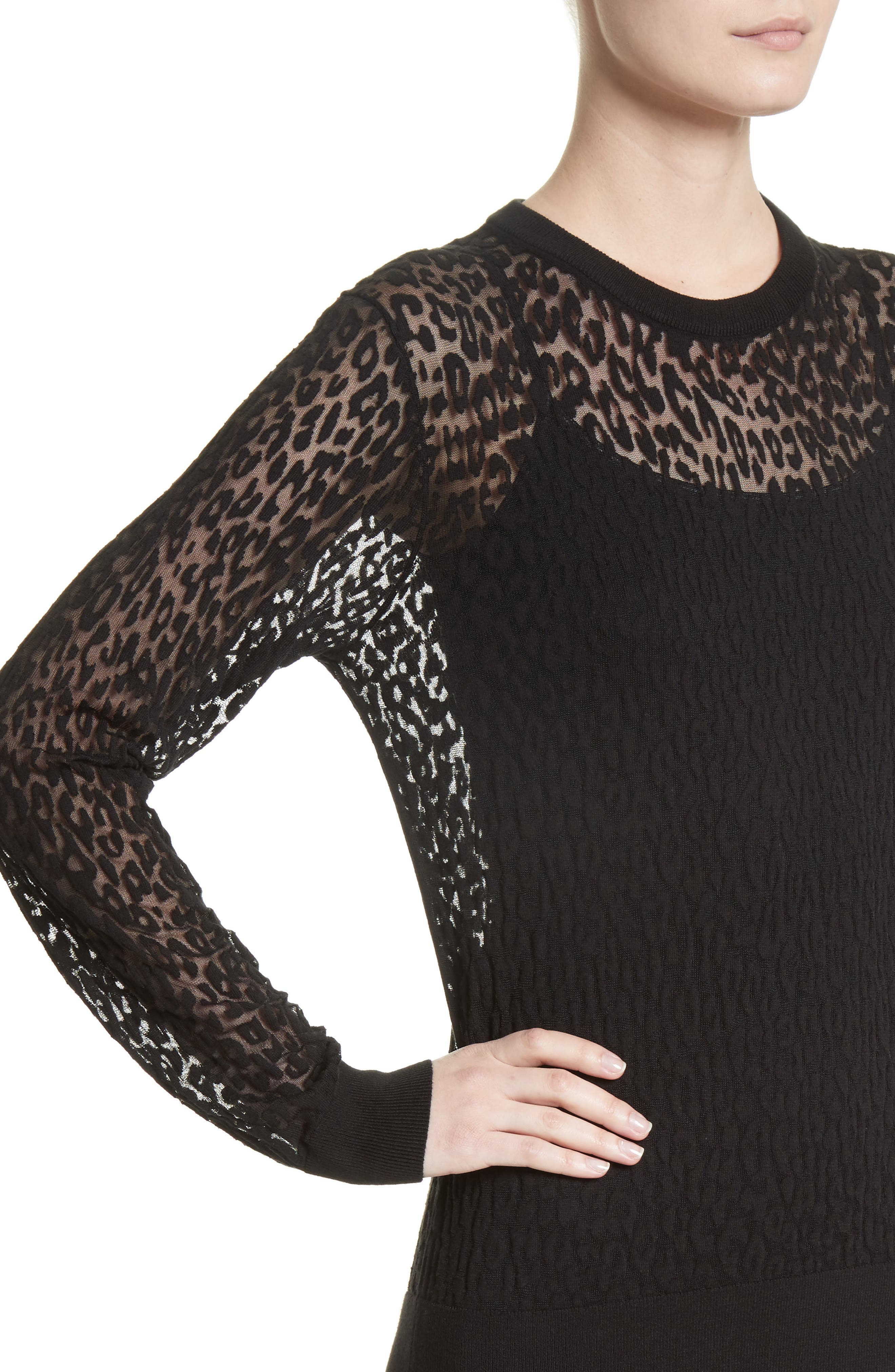 Alternate Image 5  - Michael Kors Burnout Leopard Sweater