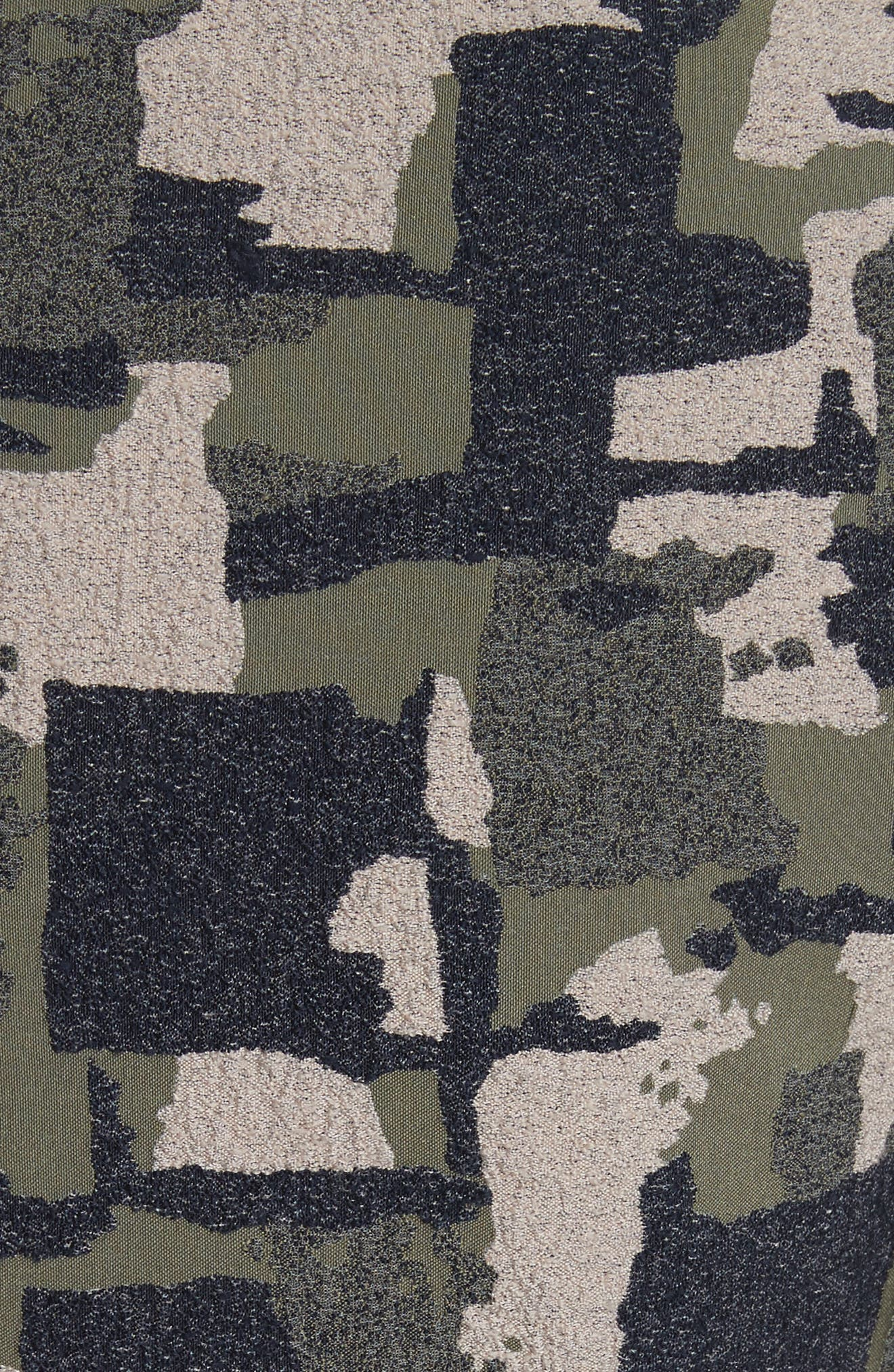 Alternate Image 3  - Yigal Azrouël Patchwork Stretch Jacquard Dress
