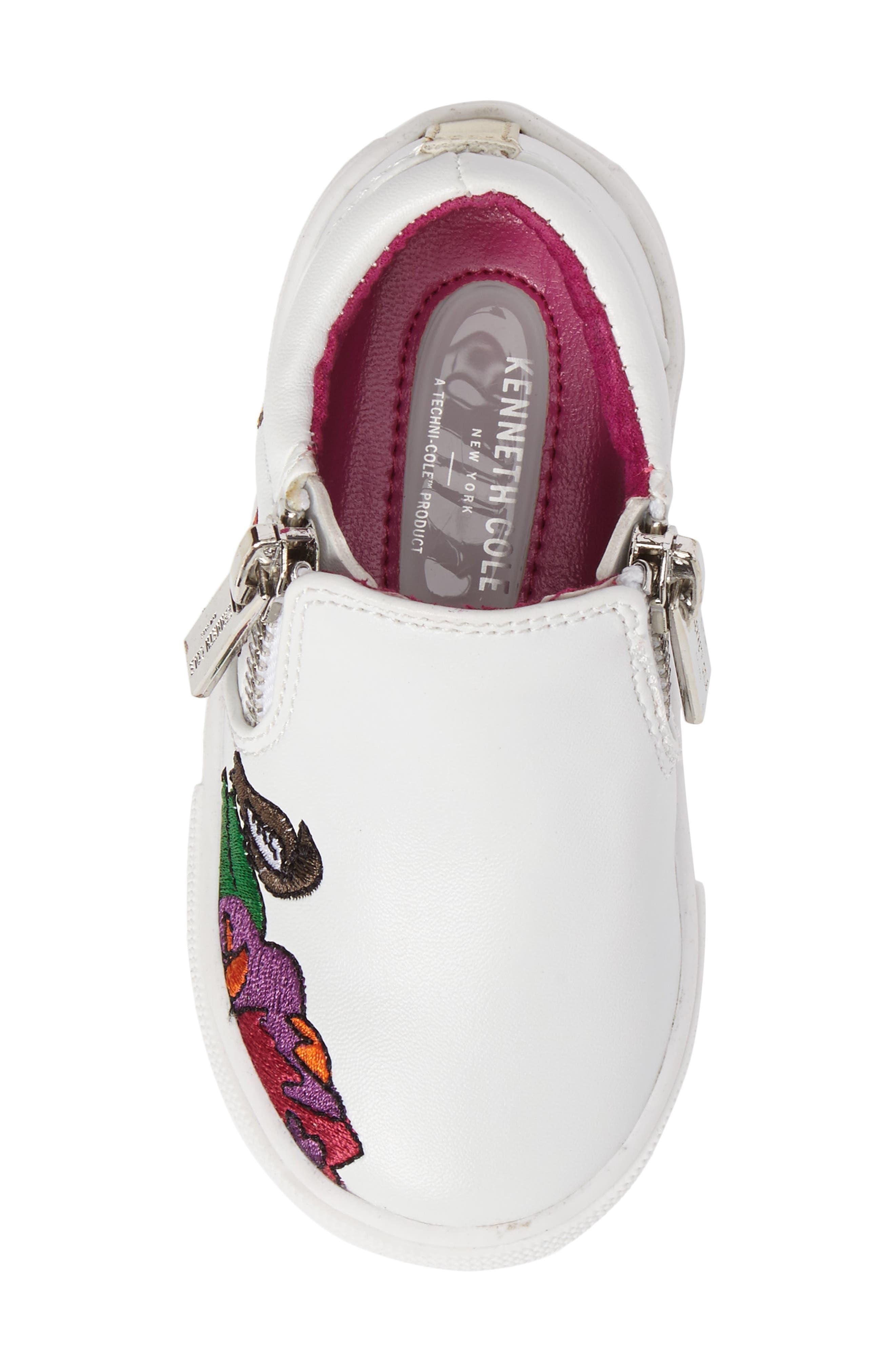 Alternate Image 5  - Kenneth Cole New York Kam Dory Embroidered Zip Sneaker (Walker & Toddler)