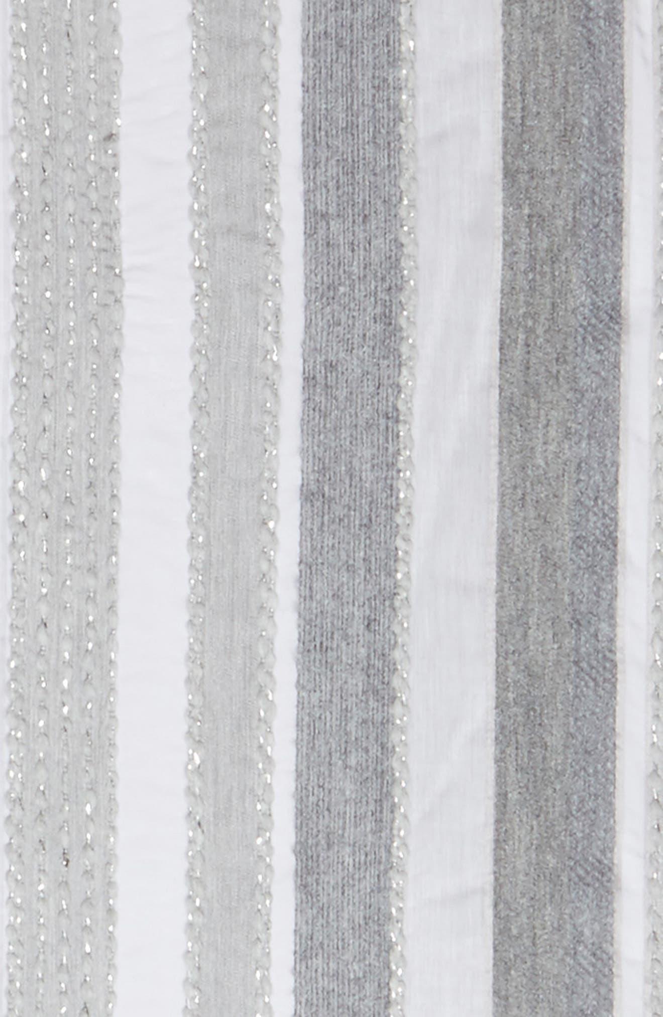 Metallic Scarf,                             Alternate thumbnail 3, color,                             Grey