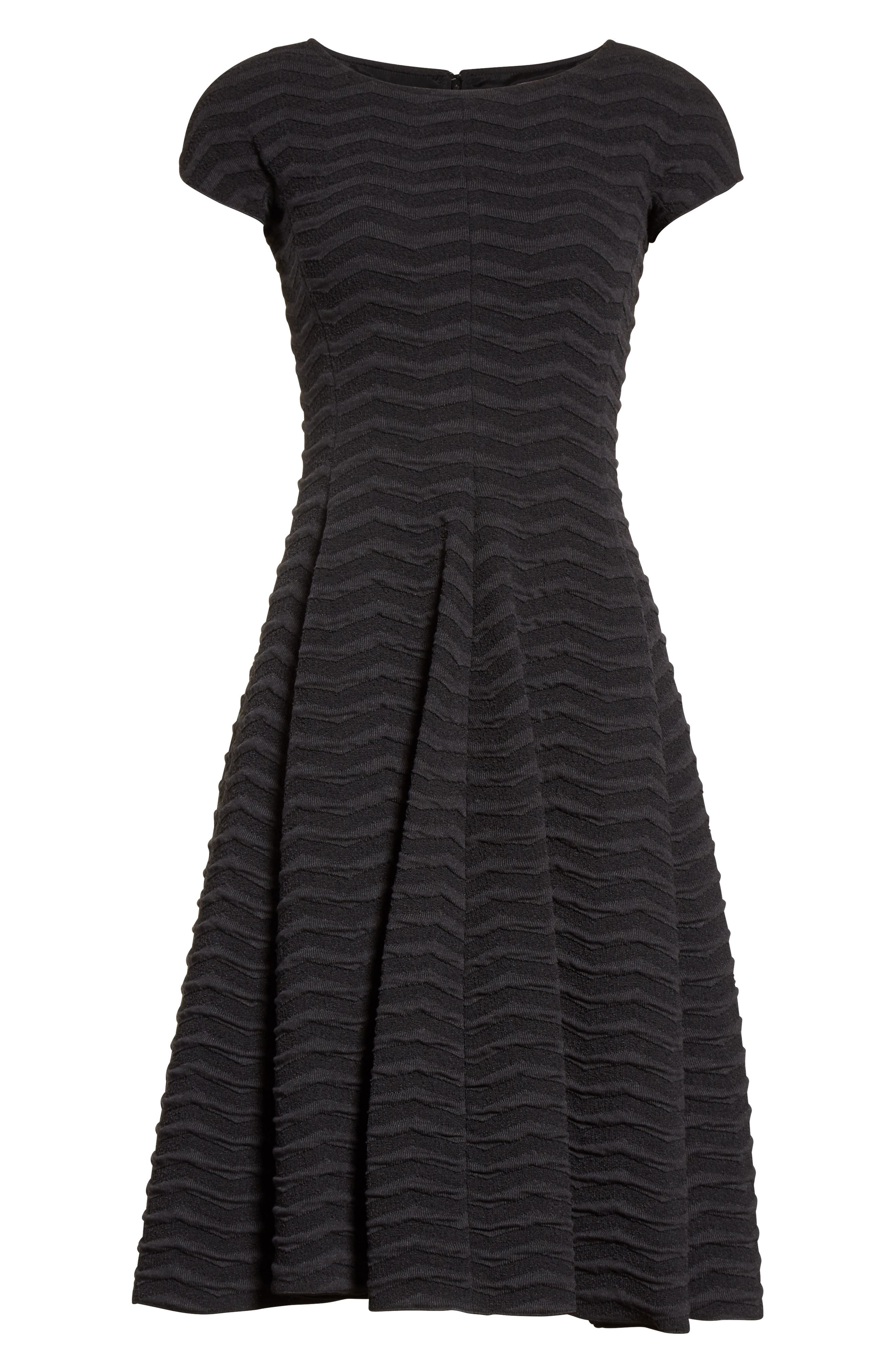 Alternate Image 4  - Armani Collezioni Embossed Jacquard Jersey A-Line Dress