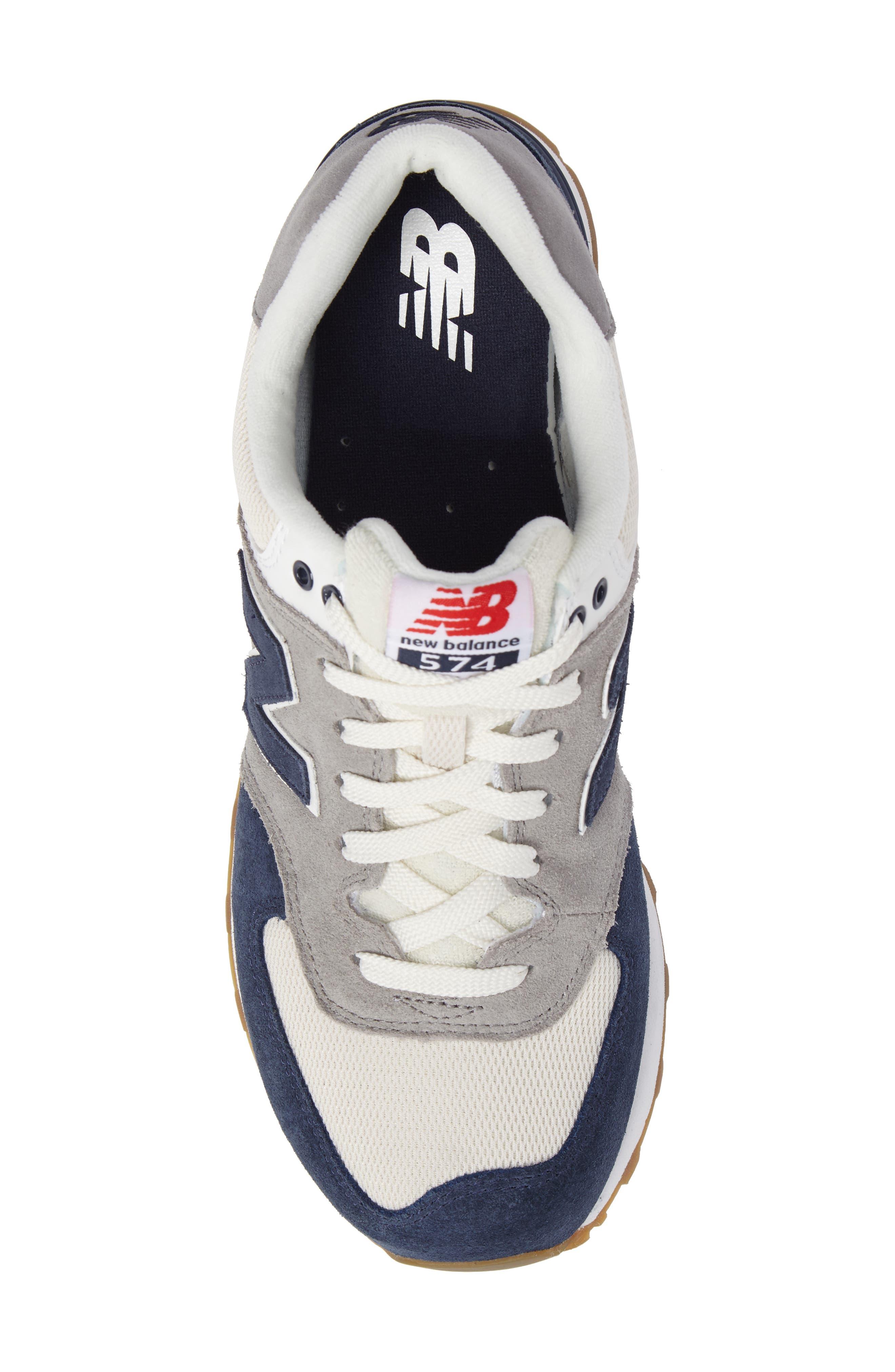574 Retro Sport Sneaker,                             Alternate thumbnail 5, color,                             Electric Blue