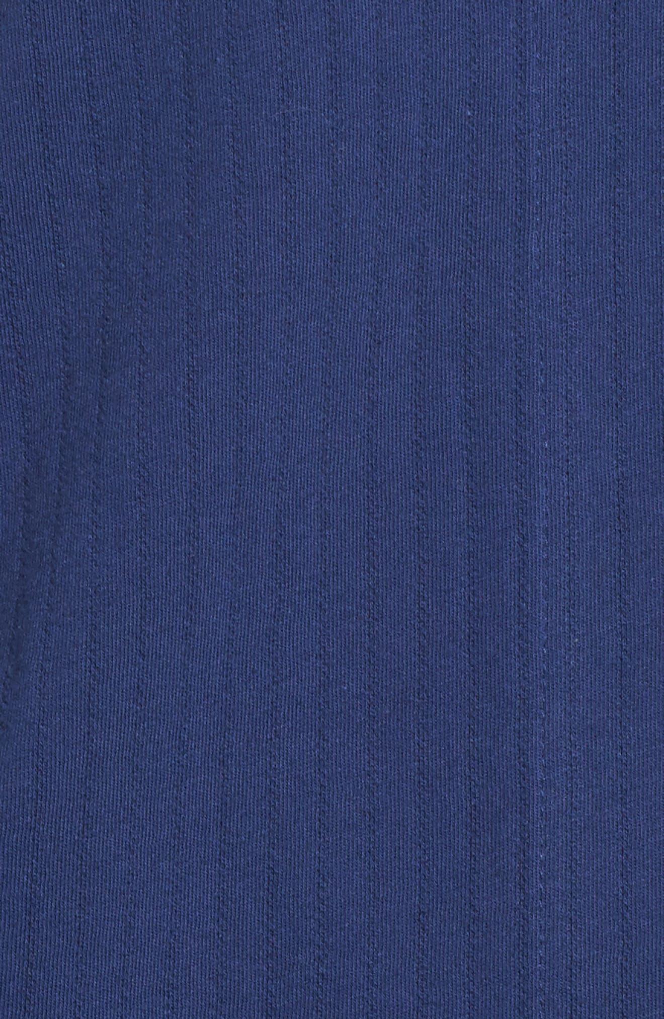 Notched Collar Pajamas,                             Alternate thumbnail 6, color,                             Navy
