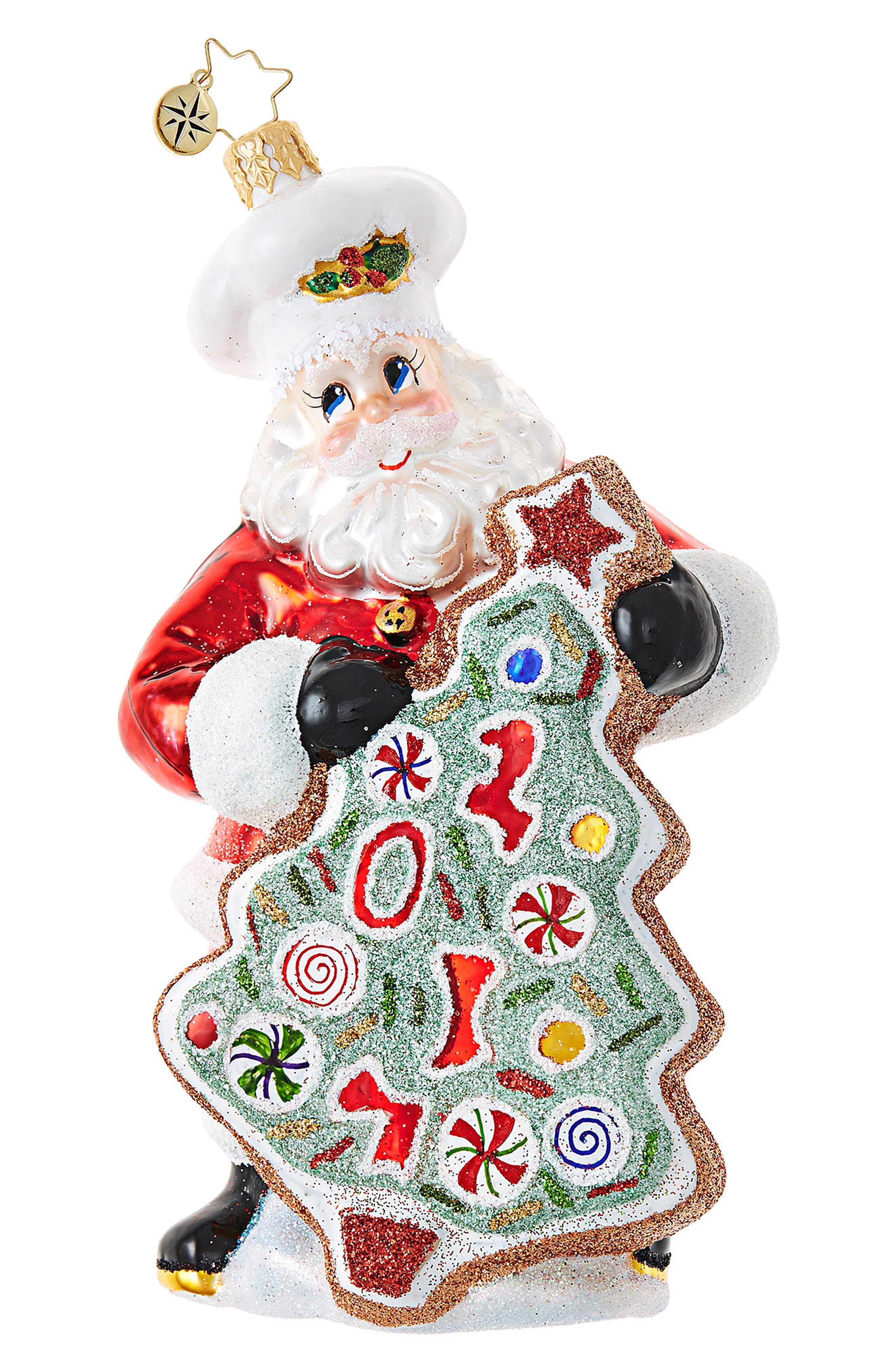 Christopher Radko Sugar Cookie Kris Glass Ornament
